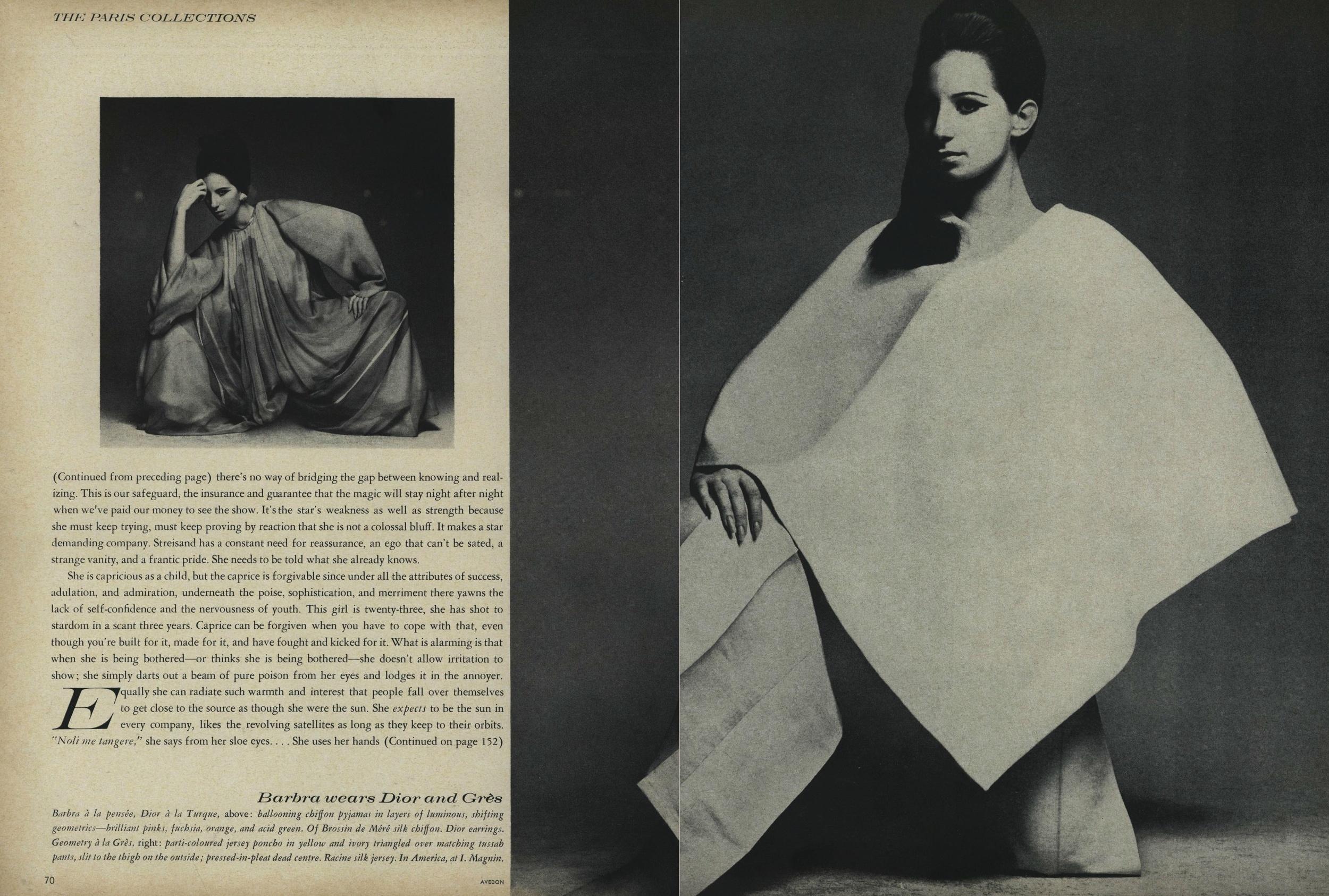 Barbra Streisand Vogue Avedon Vreeland 1966