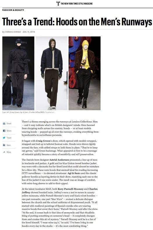 LCM, T New York Times Style Magazine