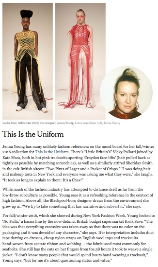 This Is The Uniform, T: New York Times Style