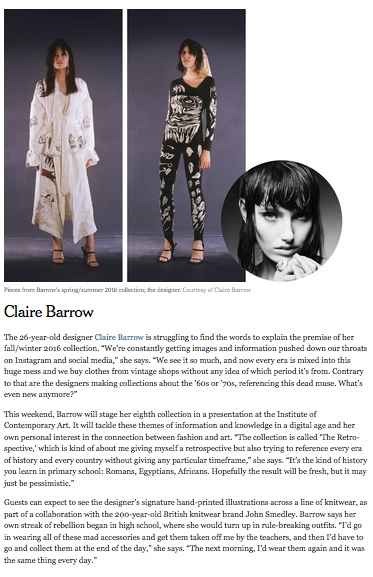 3 Young British Designers to Know, T: New York Times Sttle