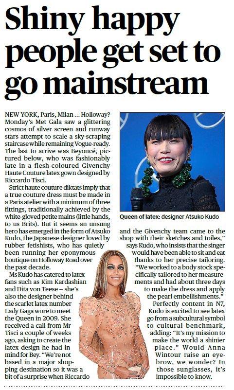 Atsuko Kudo, Evening Standard