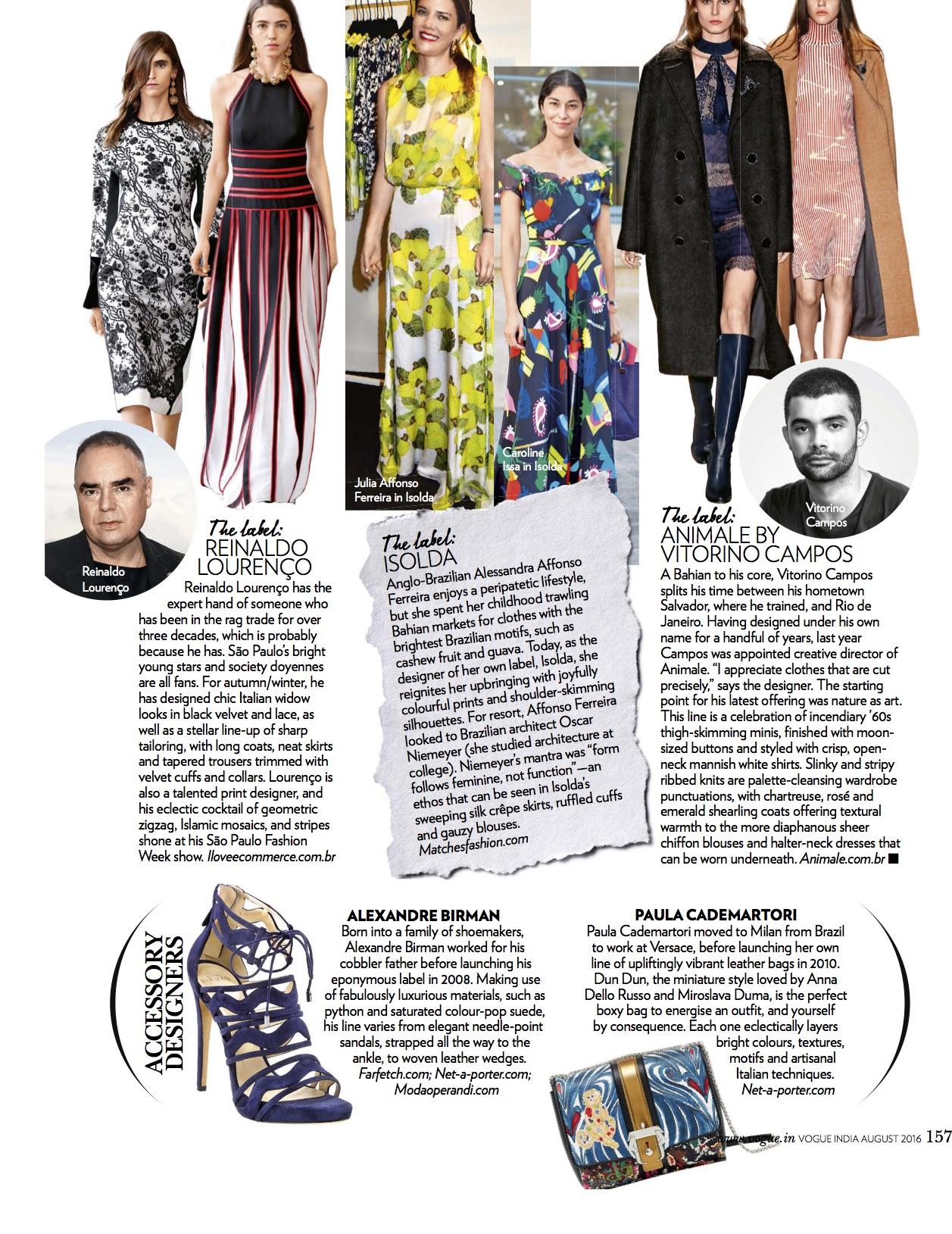 Vogue, August 2016