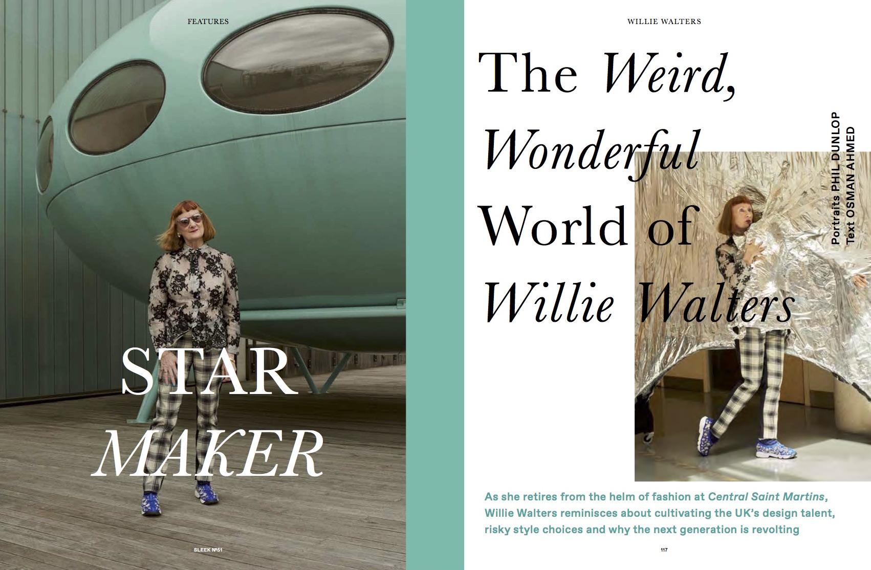 Willie Walters, Sleek (Words + Sittings)