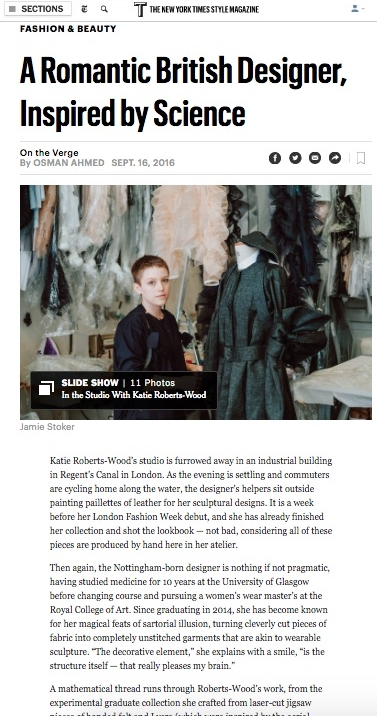 Katie Roberts-Wood, T New York Times Style
