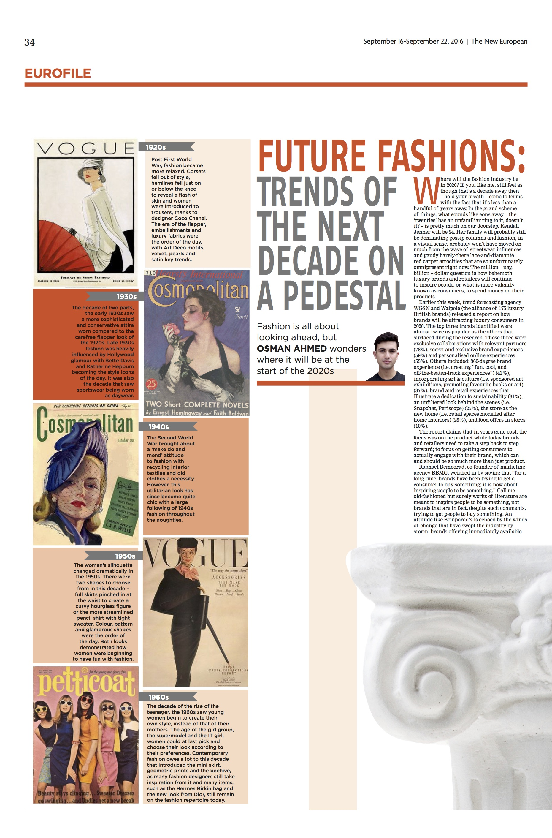 Fashion Column: 2020, The New European
