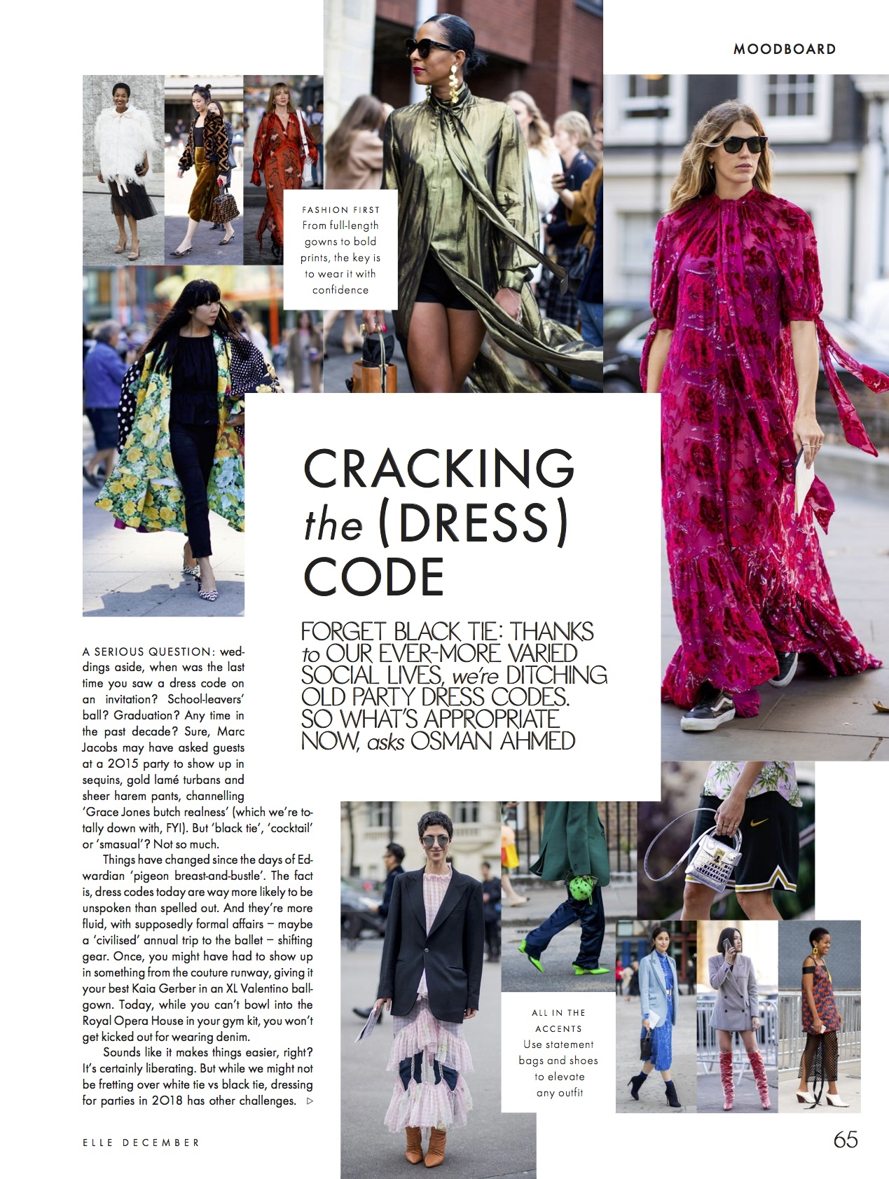 Osman Ahmed dress codes Elle UK