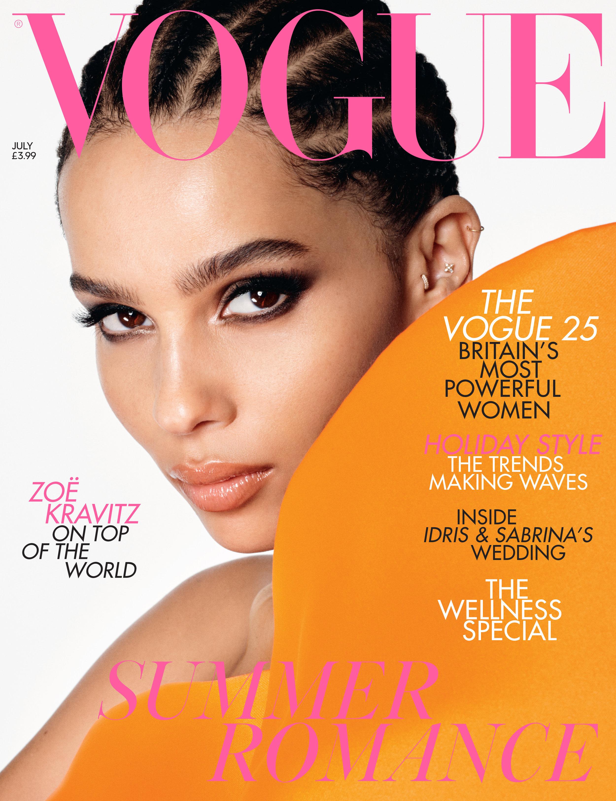 July Vogue cover Zoe Kravitz