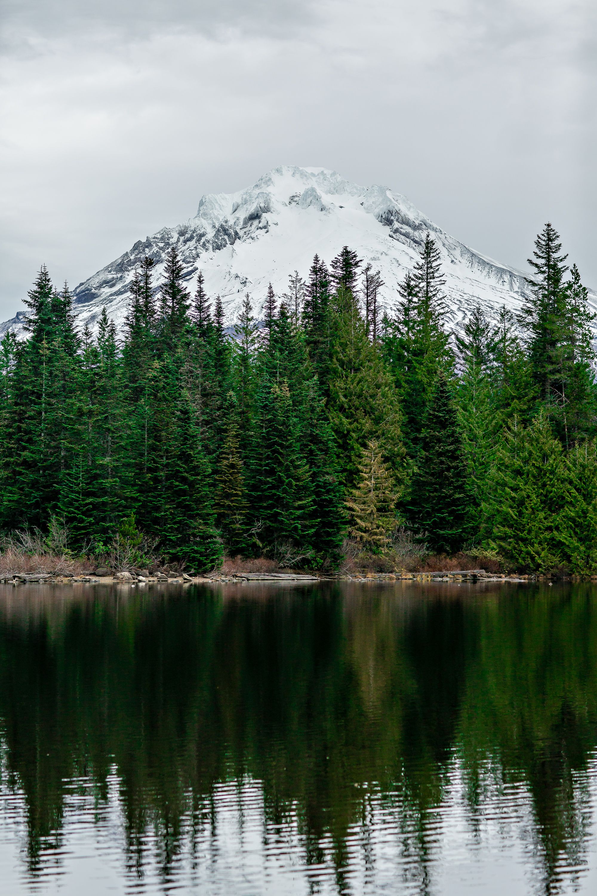 Mt Hood over Mirror Lake