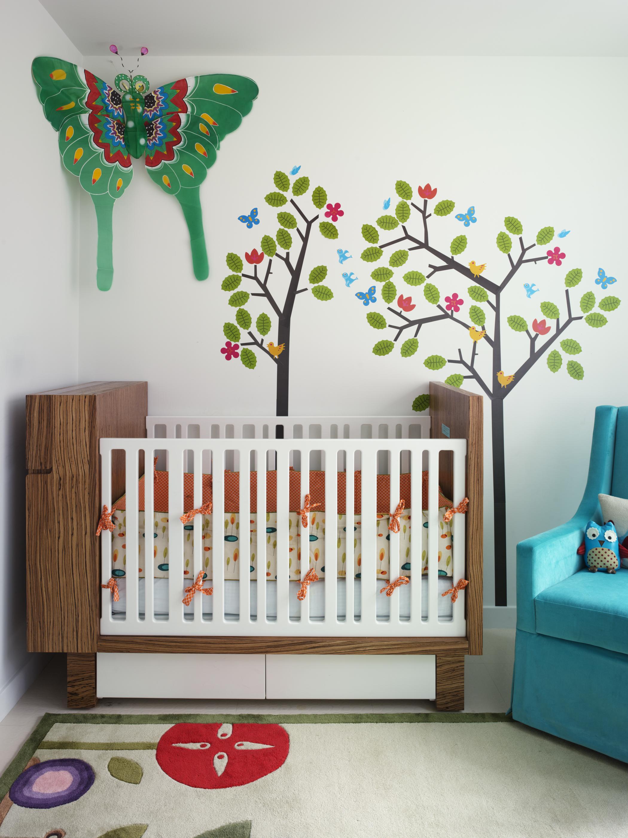 Bohemian Apartment Nursery and Crib