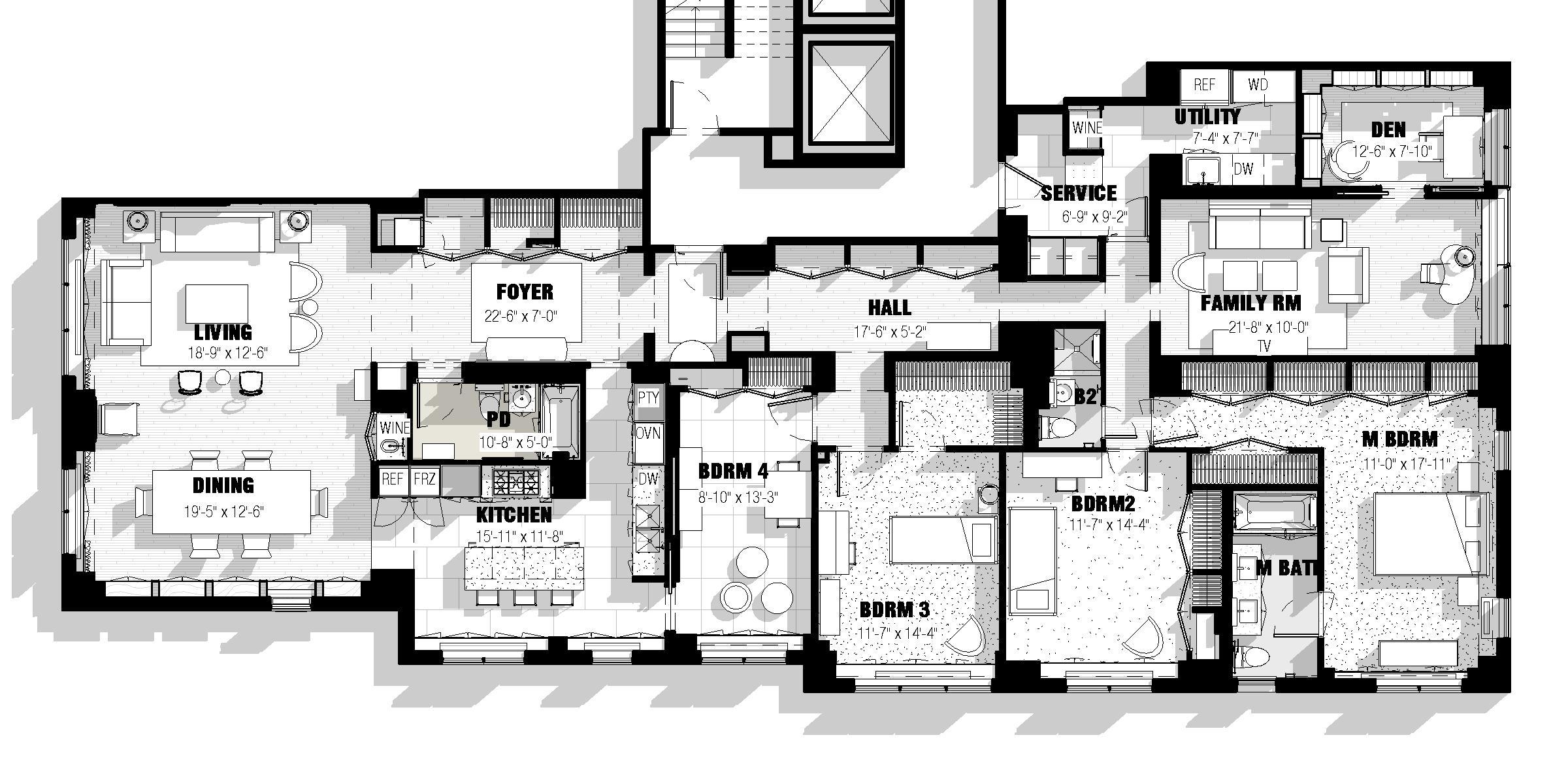 Lincoln Apartment Floorplan