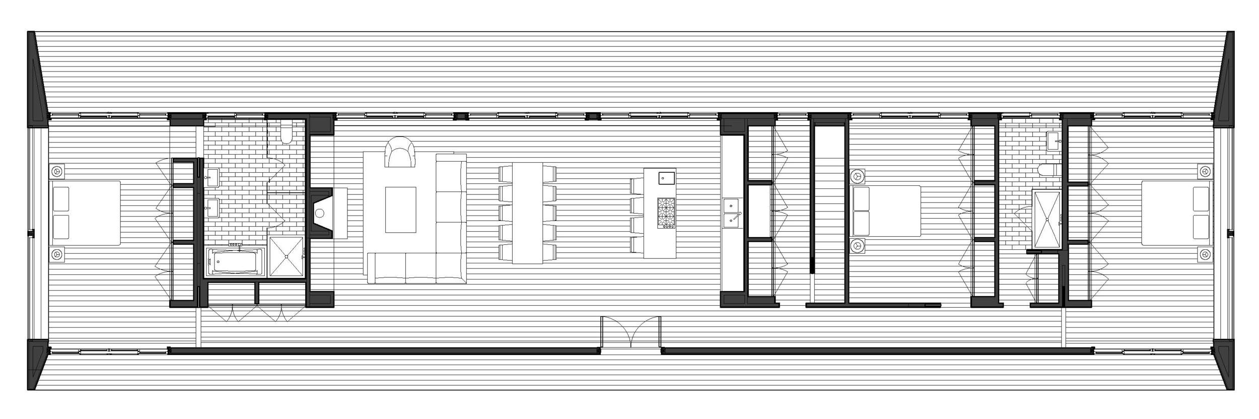 Texas Hill House Floor plan