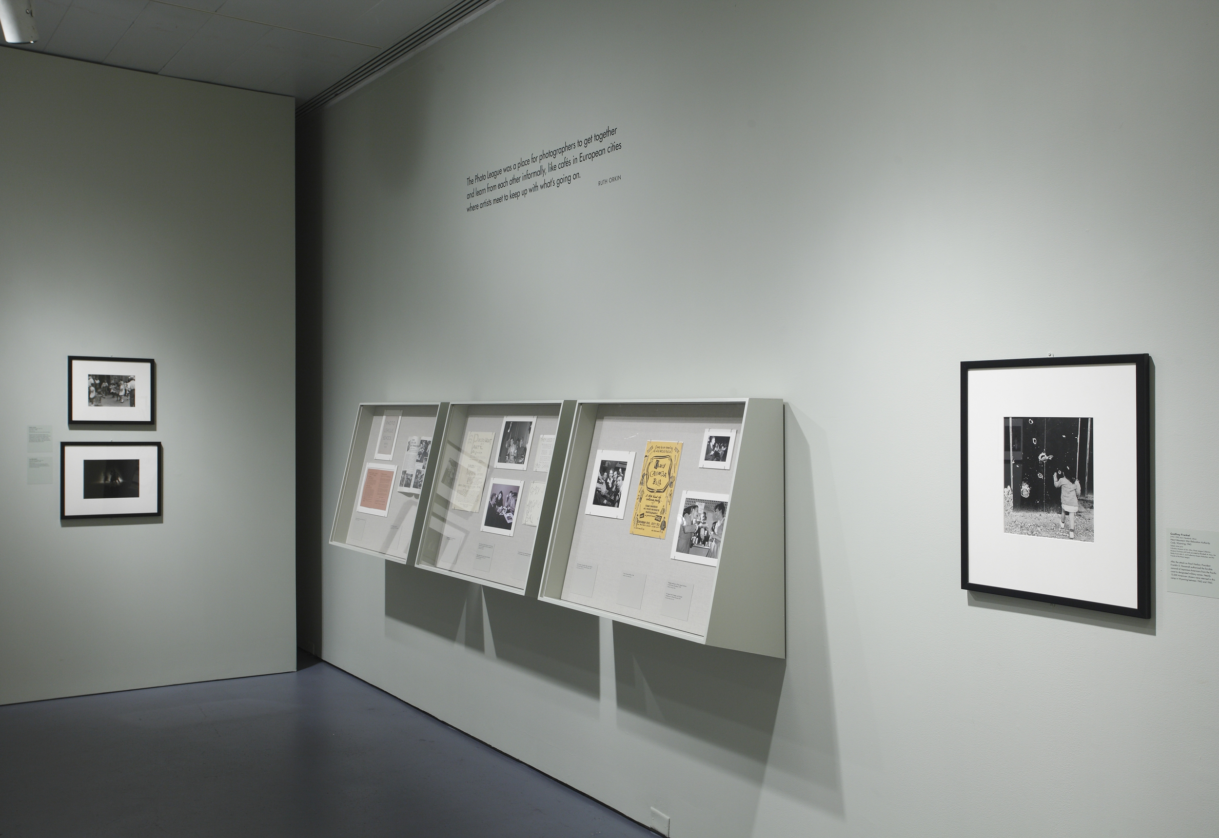 Jewish Museum Photo League Gallery Wall Vitrines