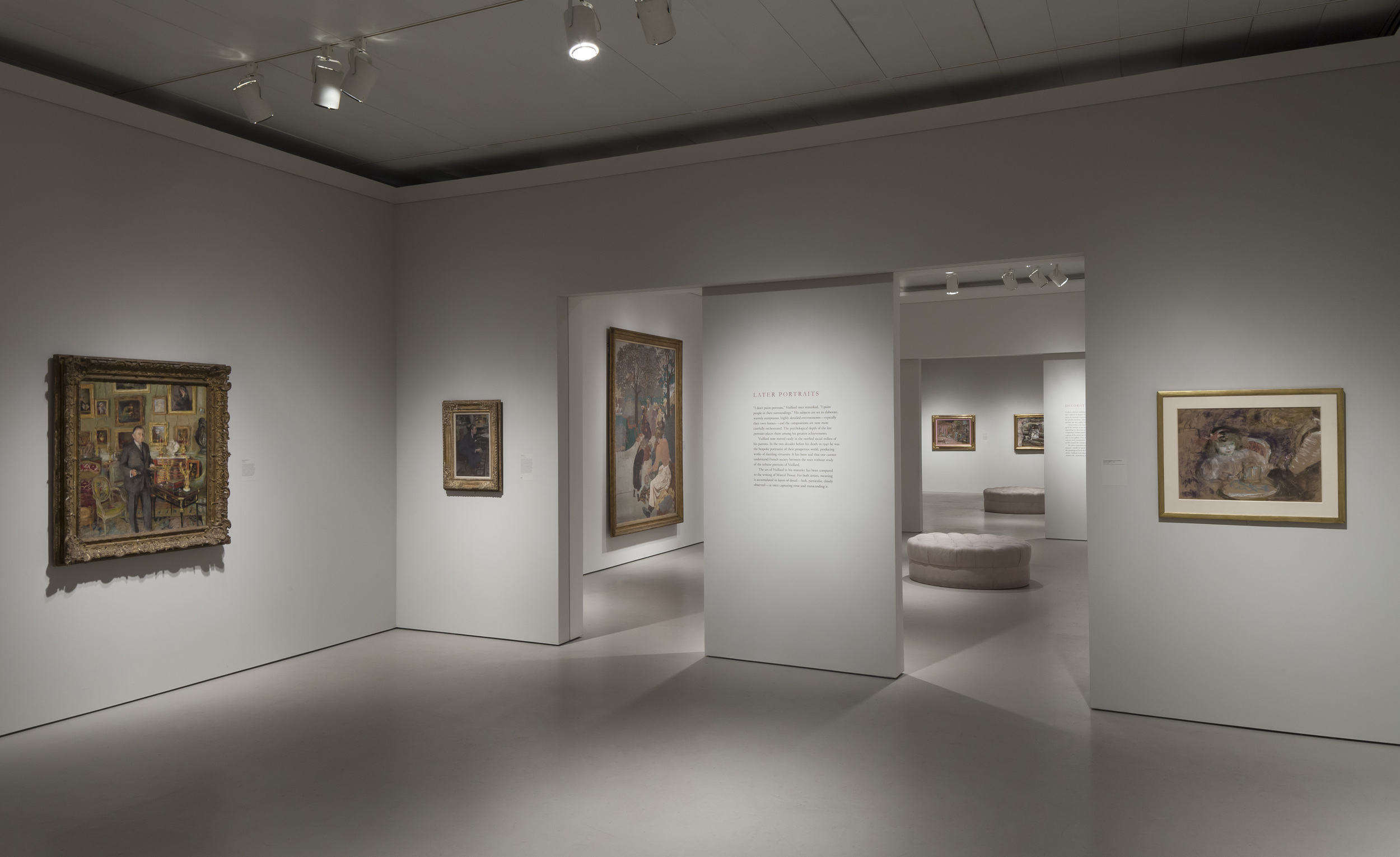 Jewish Museum Vuillard Exhibition Rooms and Ottomans