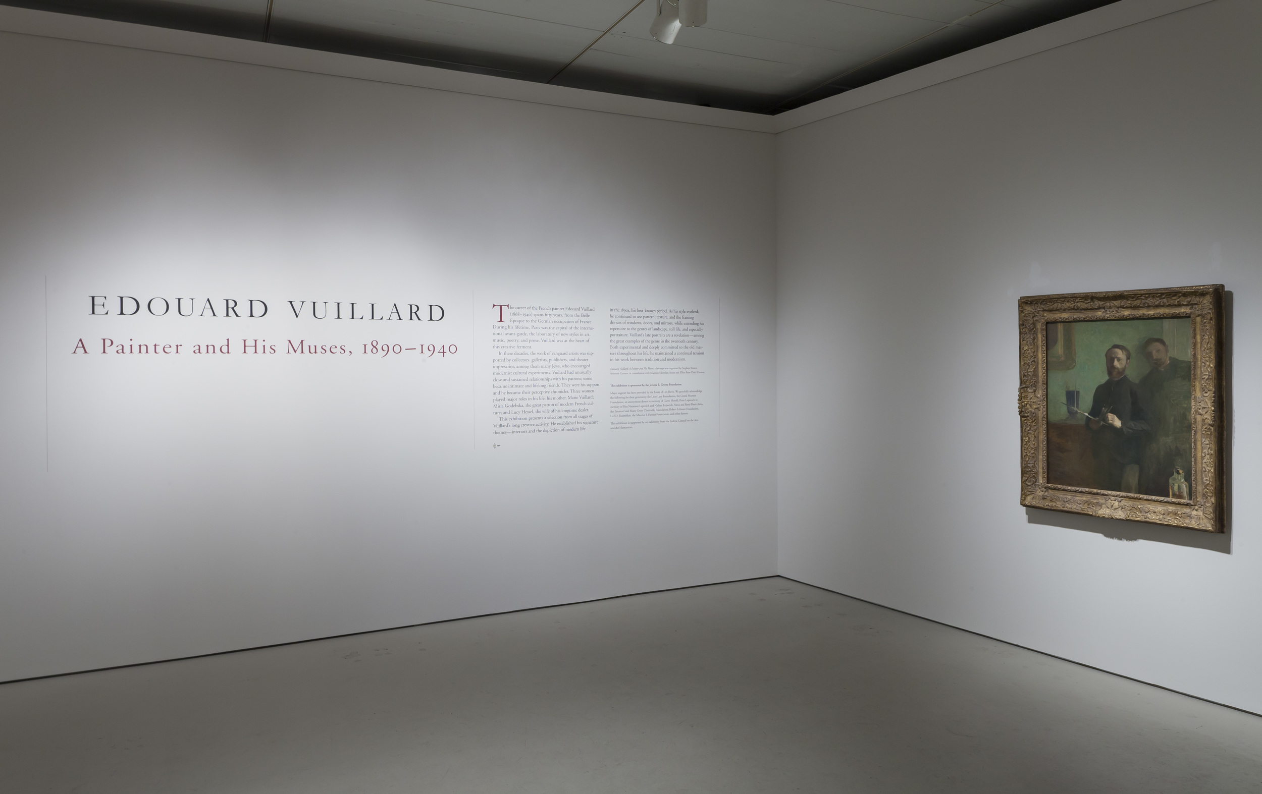 Jewish Museum Vuillard Exhibition Sign and Painting