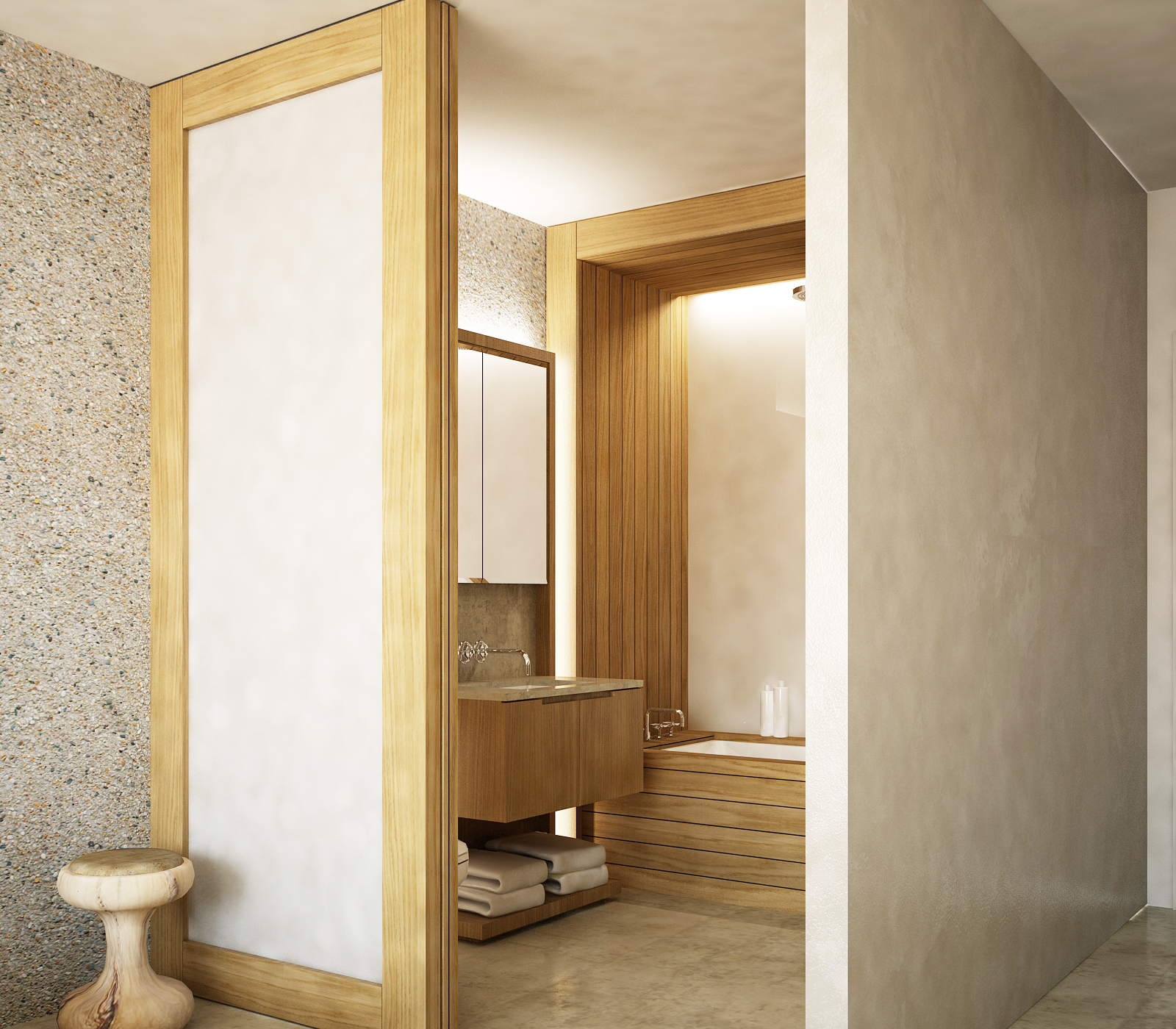 Sochi Olympic Village Master Bathroom Rendering