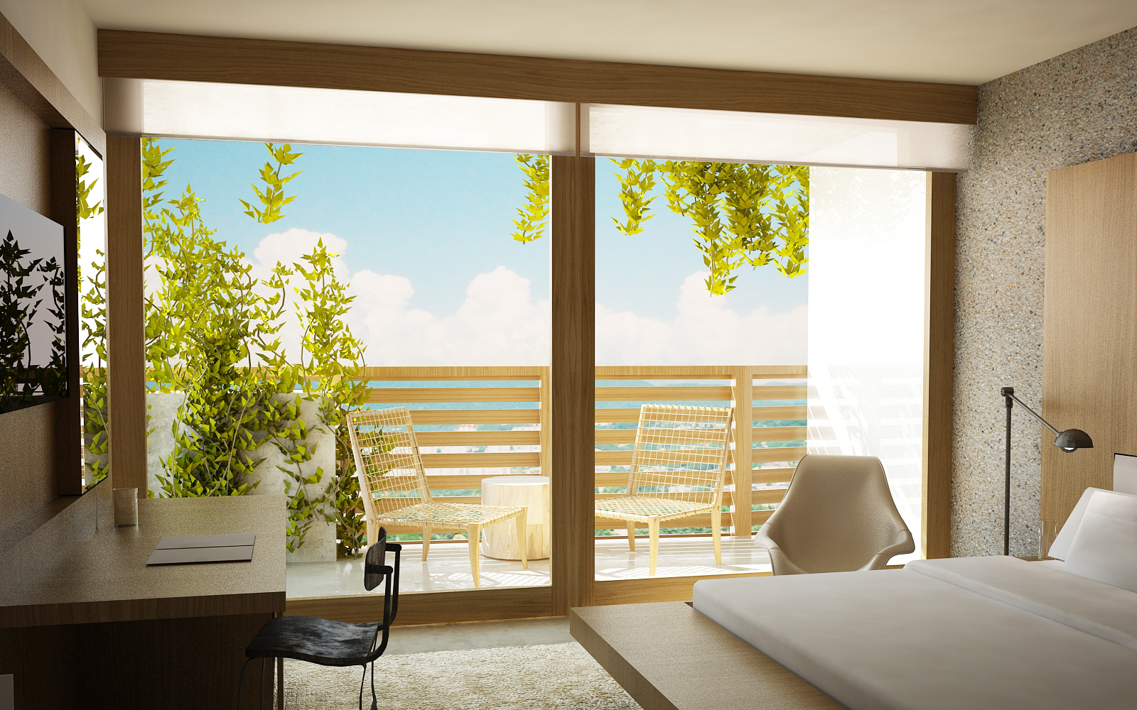Sochi Olympic Village Master Bedroom Rendering