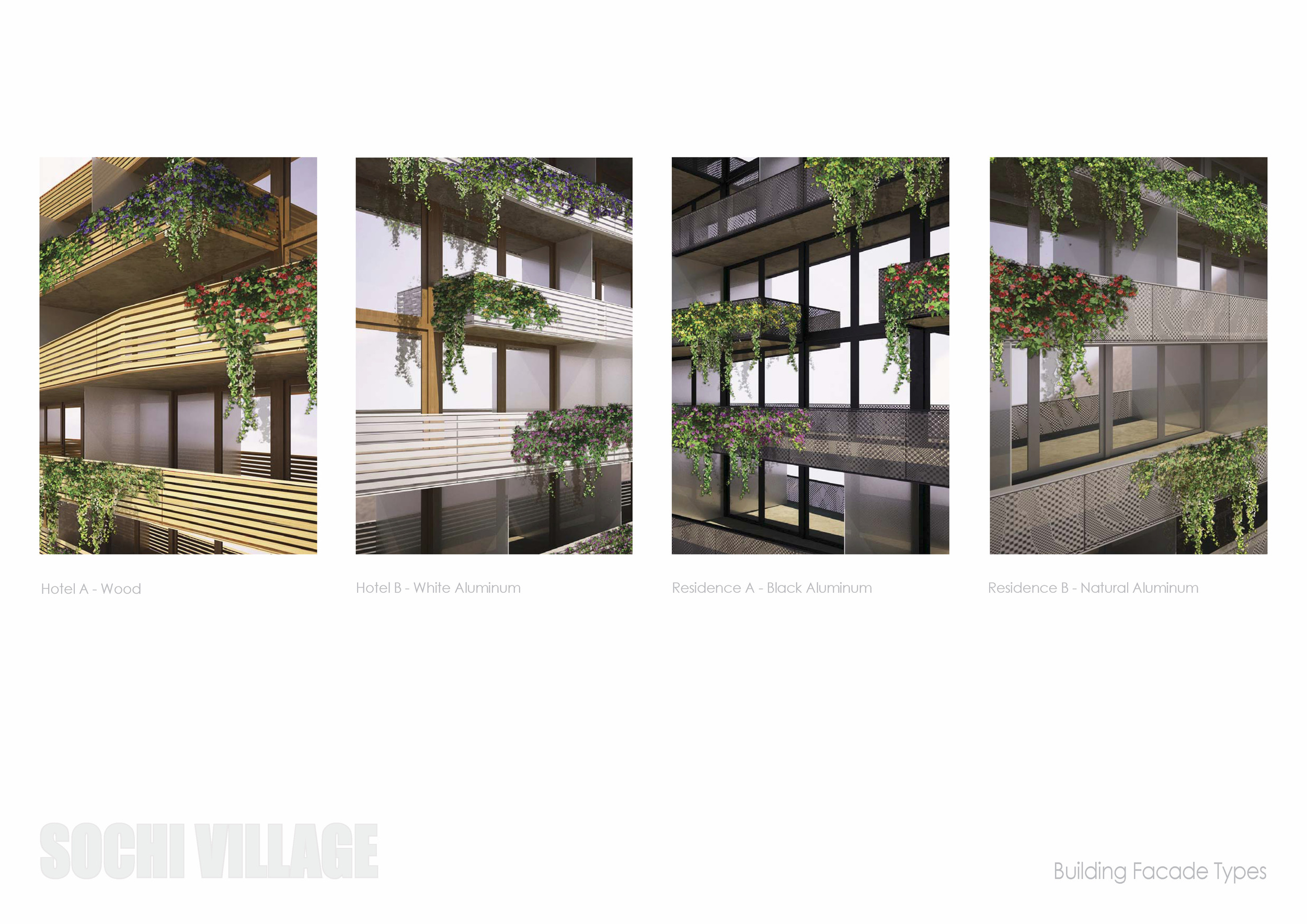 Sochi Olympic Village Building Facade Types