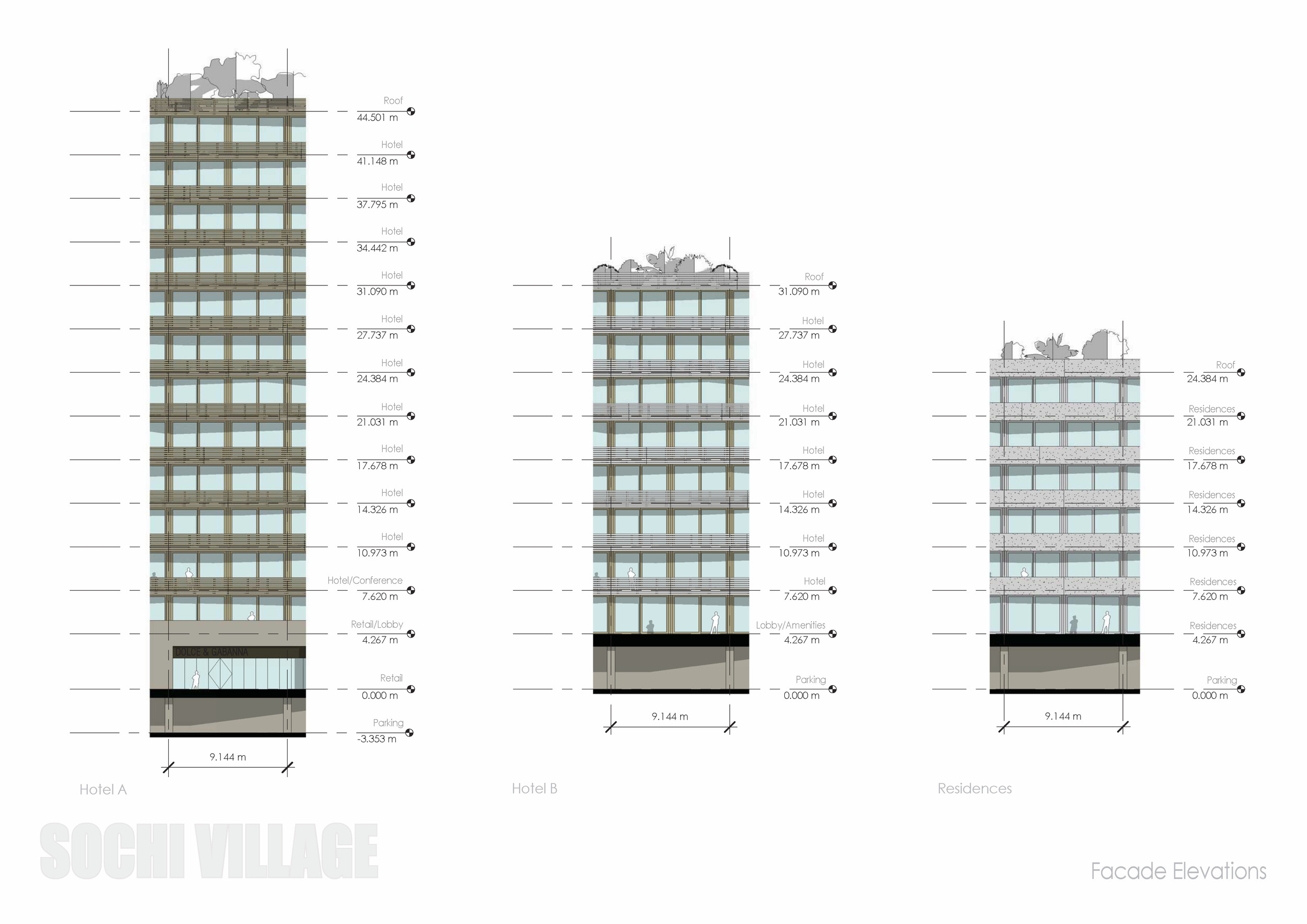 Sochi Olympic Village Facade Elevations