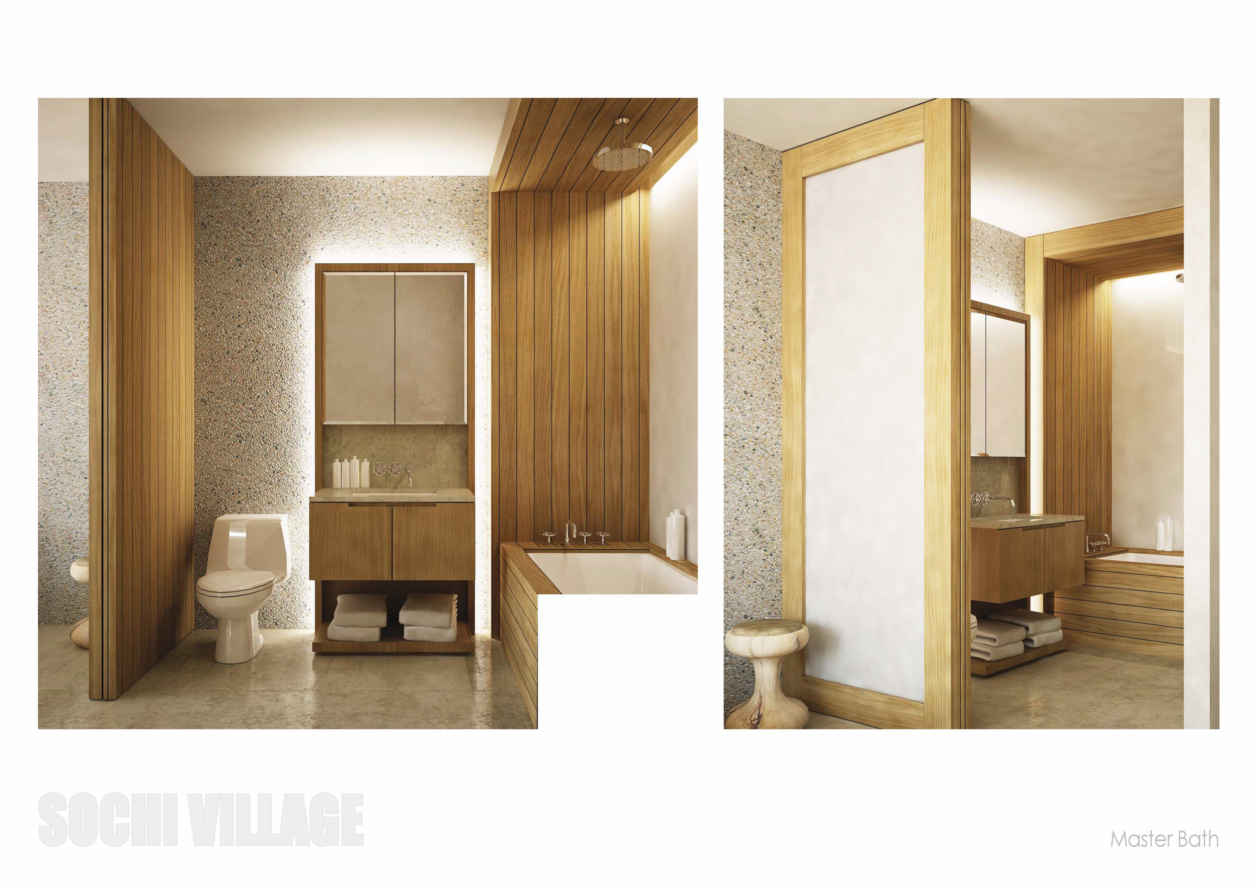 Sochi Olympic Village Master Bathroom Renderings