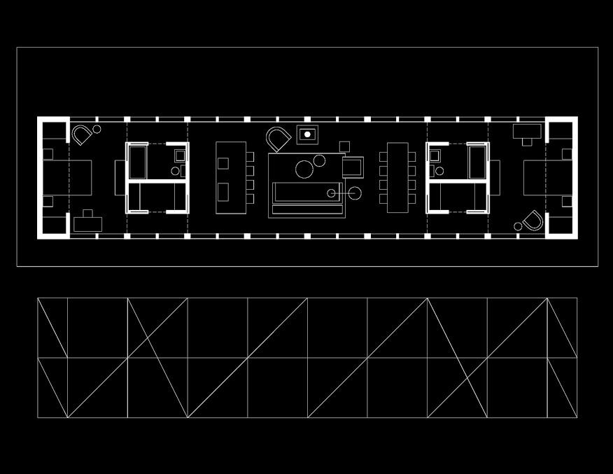 Sixteen Doors House Floor Plans
