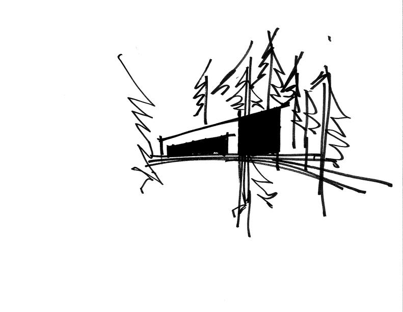 Sixteen Doors House Sketch