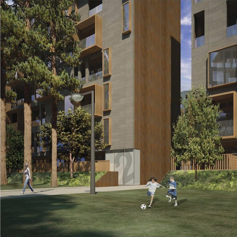 Storm Development Courtyard and Exterior Rendering