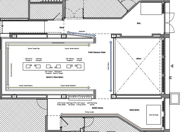9/11 Memorial Exhibit Floor Plan