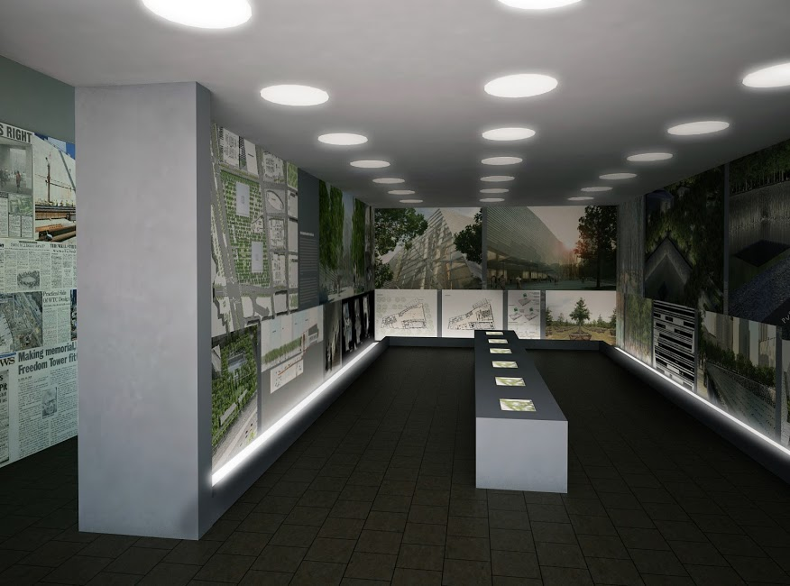 9/11 Memorial Exhibit Rendering of Main Space