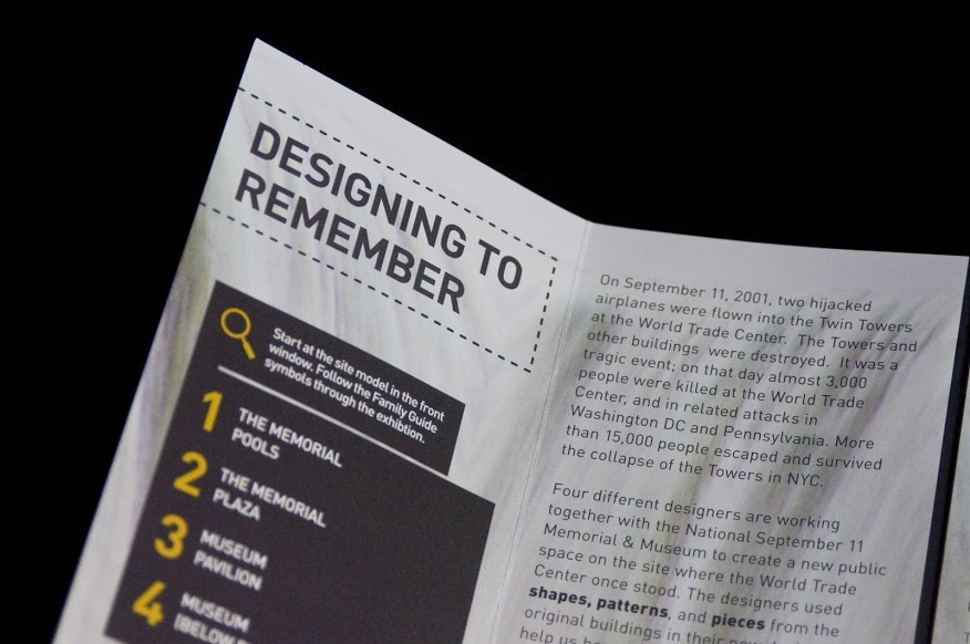9/11 Memorial Exhibit Booklet Detail