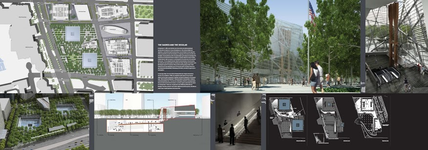 9/11 Memorial Exhibit Secular Sacred South Renderings and Plans