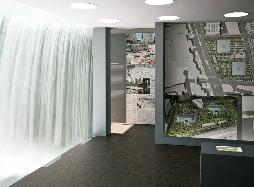 9/11 Memorial Exhibit Window Rendering