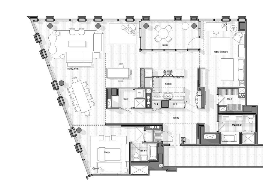 Warren Apartment Floor Plan