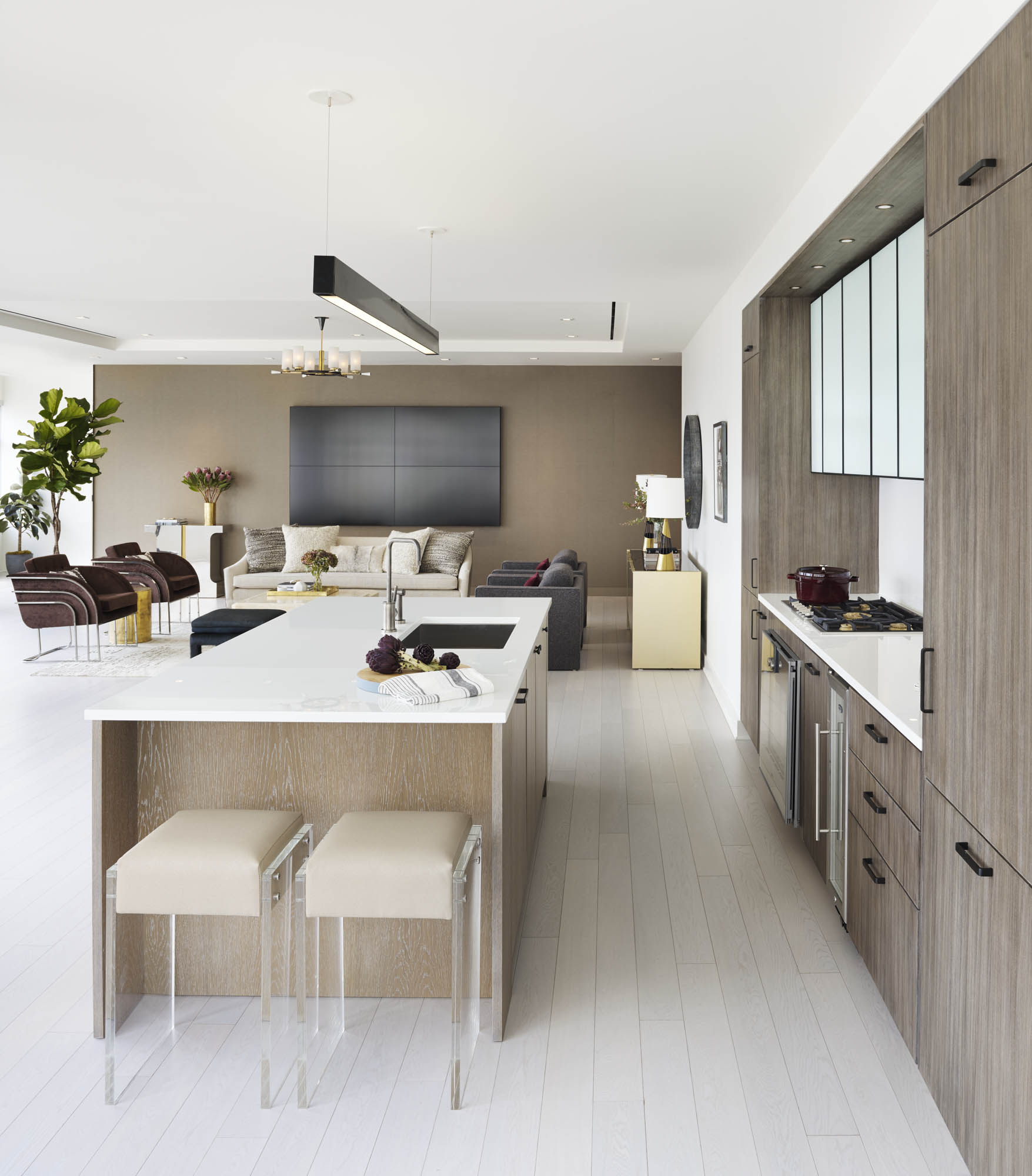 The Sutton Condominium Sales Office Kitchen and Sitting Areas