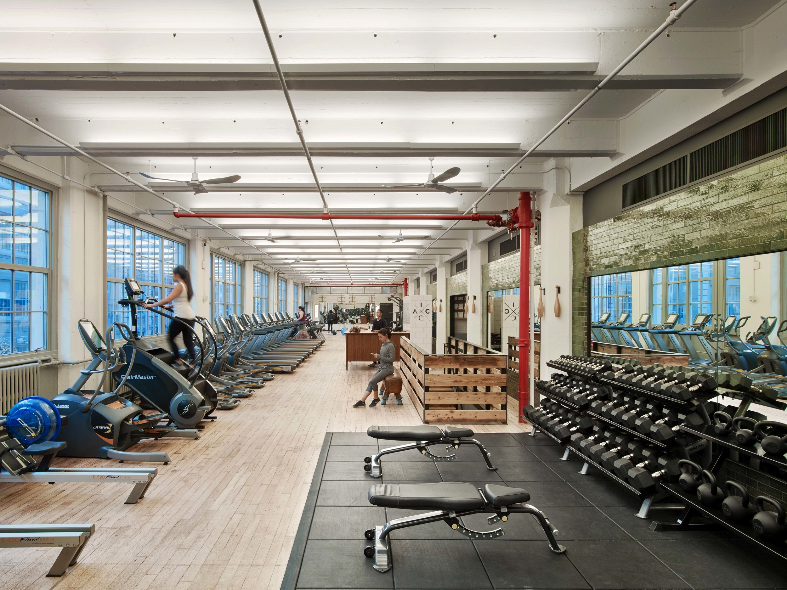 Industry City Athletic Club Overall Gym with People