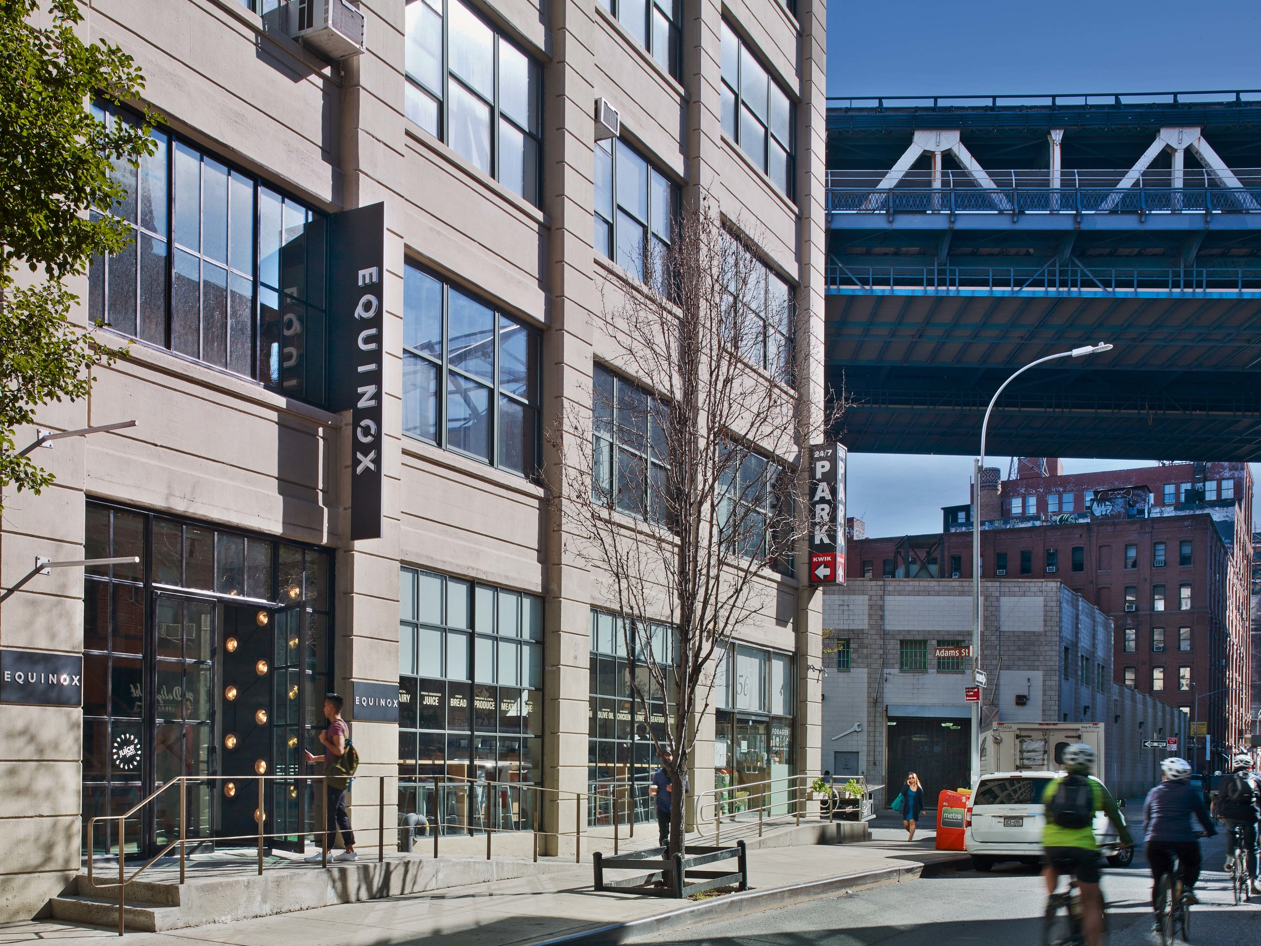Equinox Dumbo Entrance and Bridge