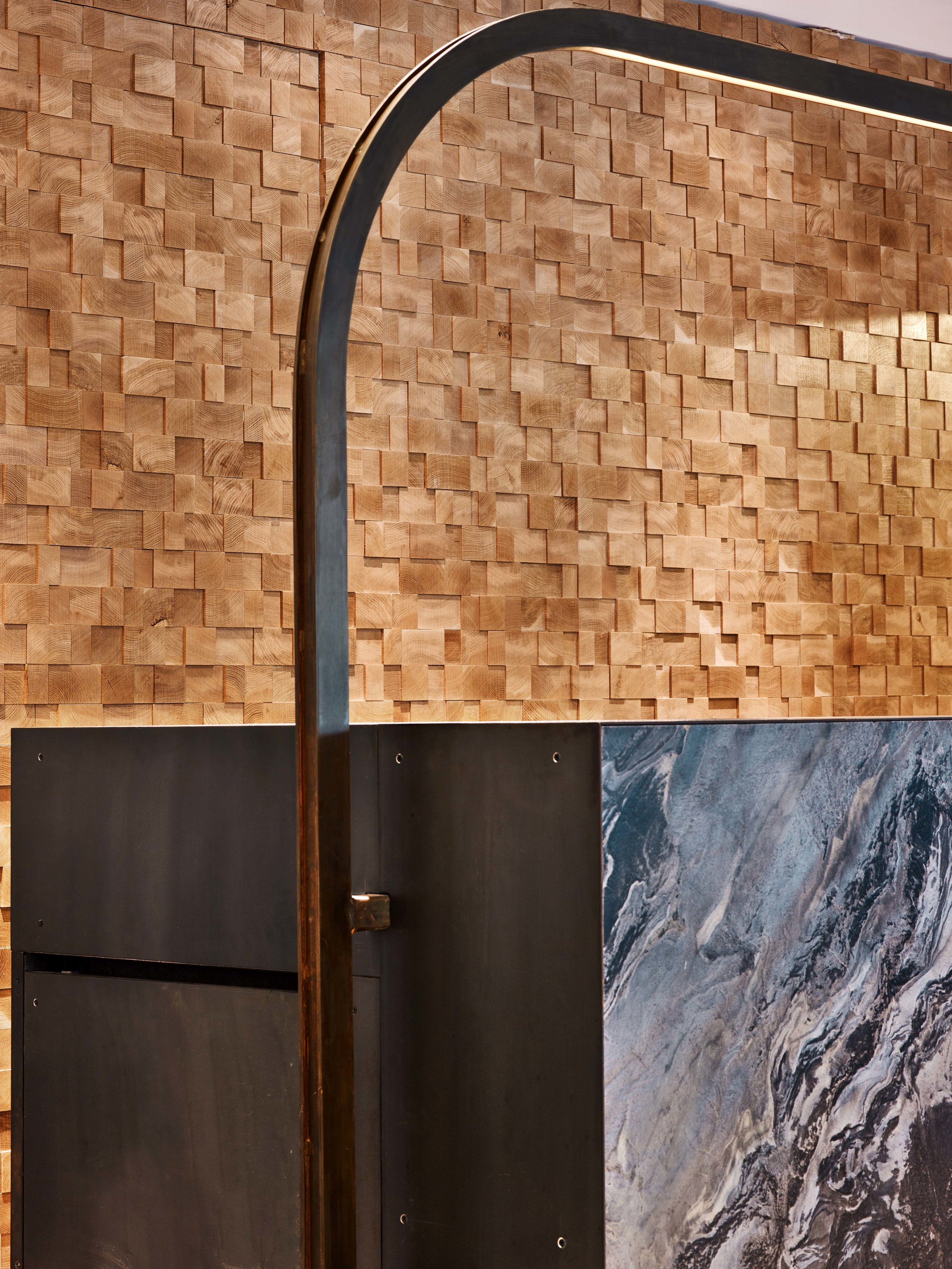 Equinox Dumbo Front Desk and Wall Detail