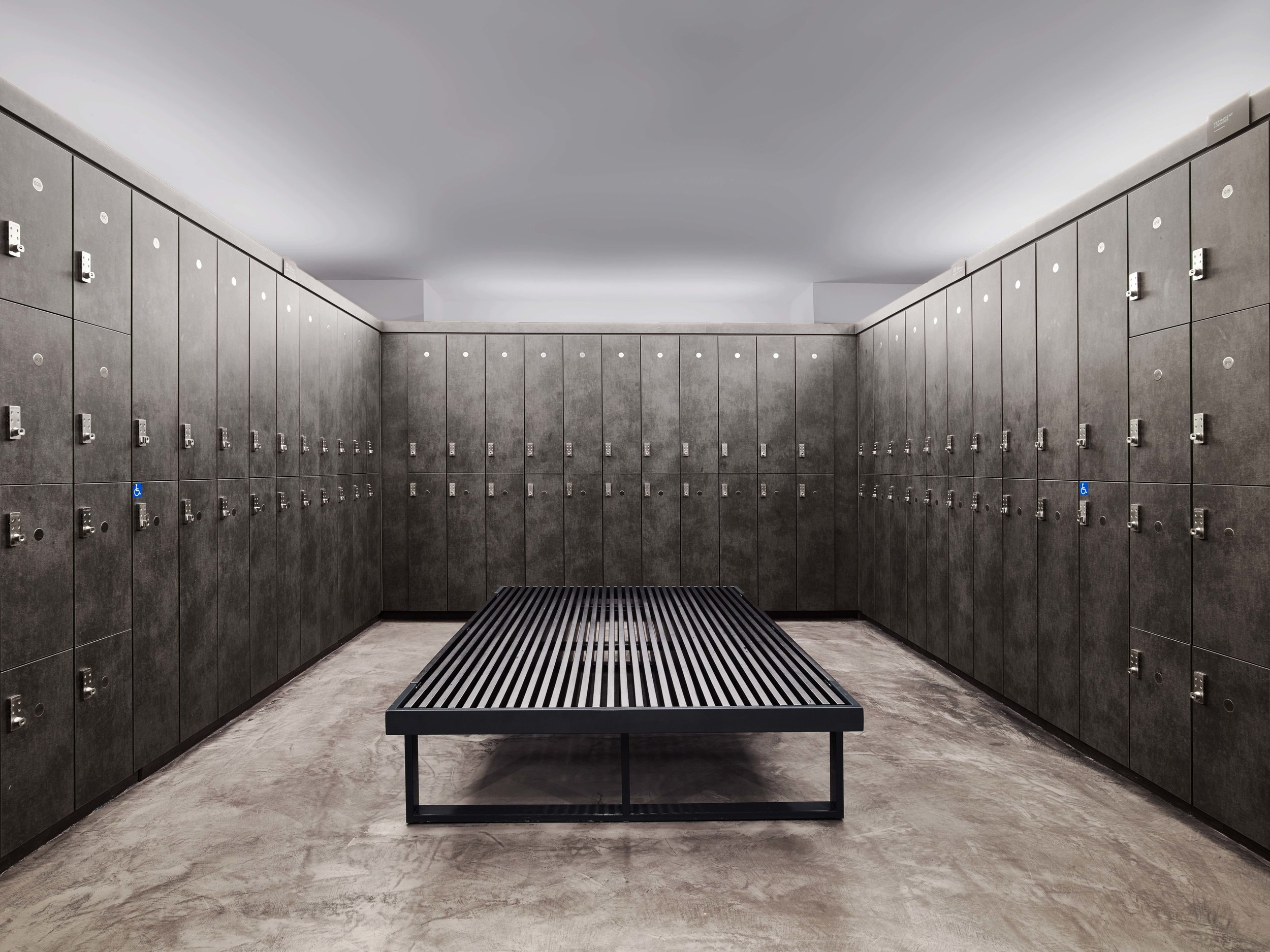 Equinox Dumbo Locker Room Lockers and Bench