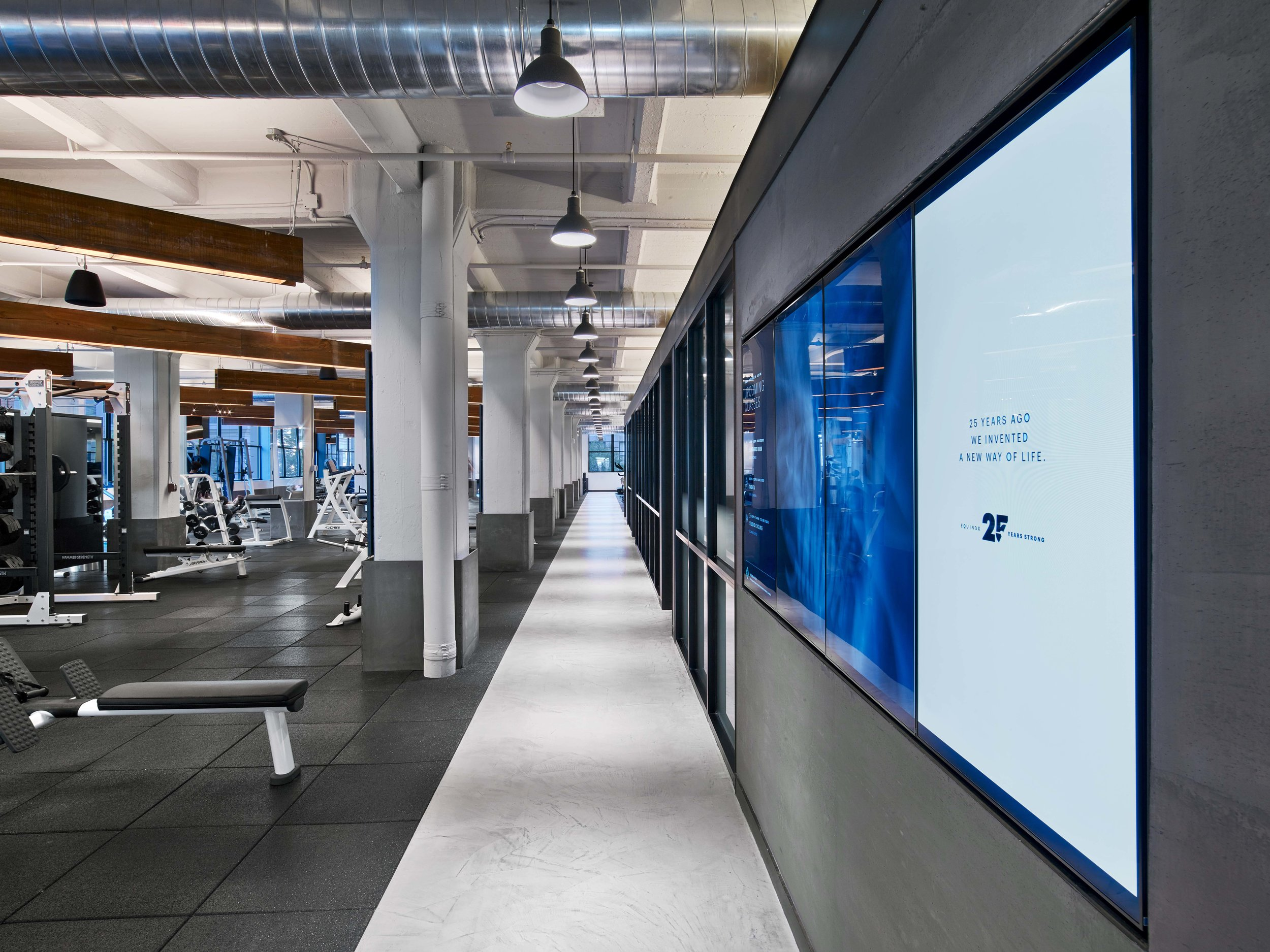 Equinox Dumbo Offices and Open Gym