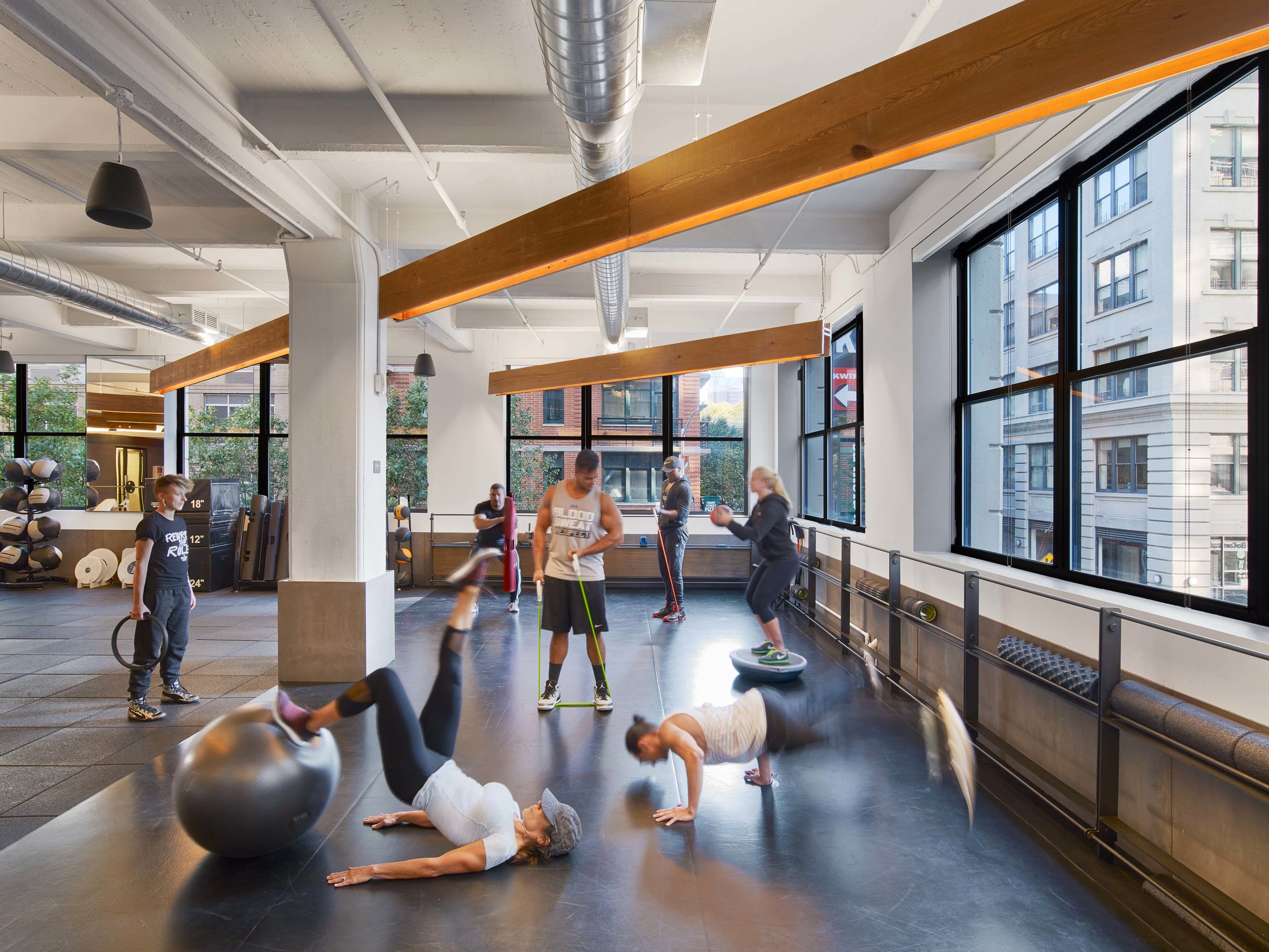 Equinox Dumbo Stretching Area