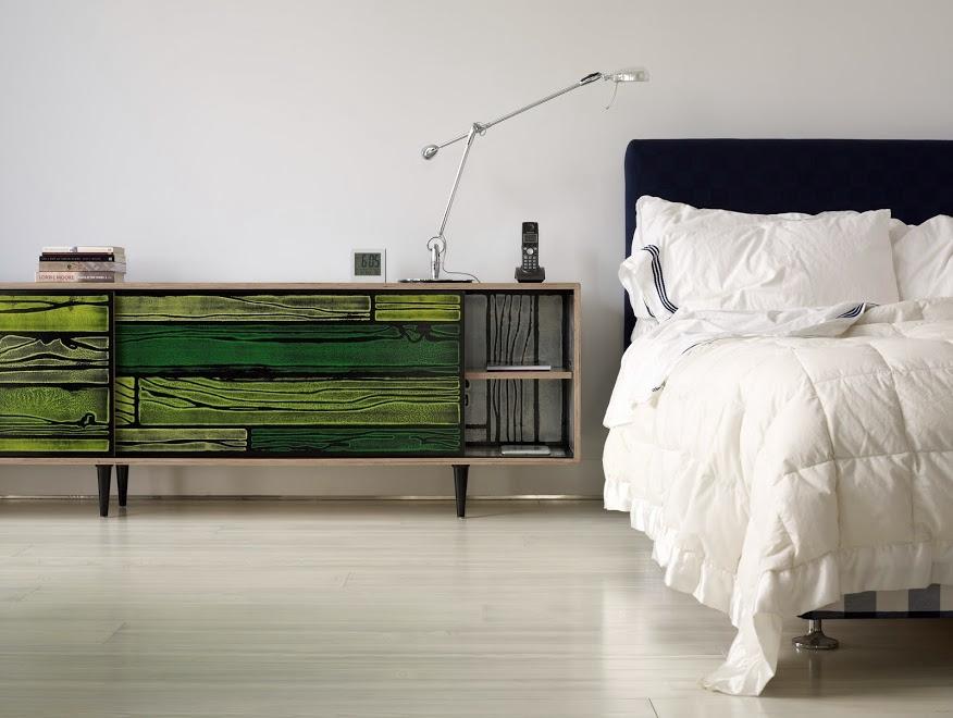 Warren Apartment Master Bedroom Credenza and Bed