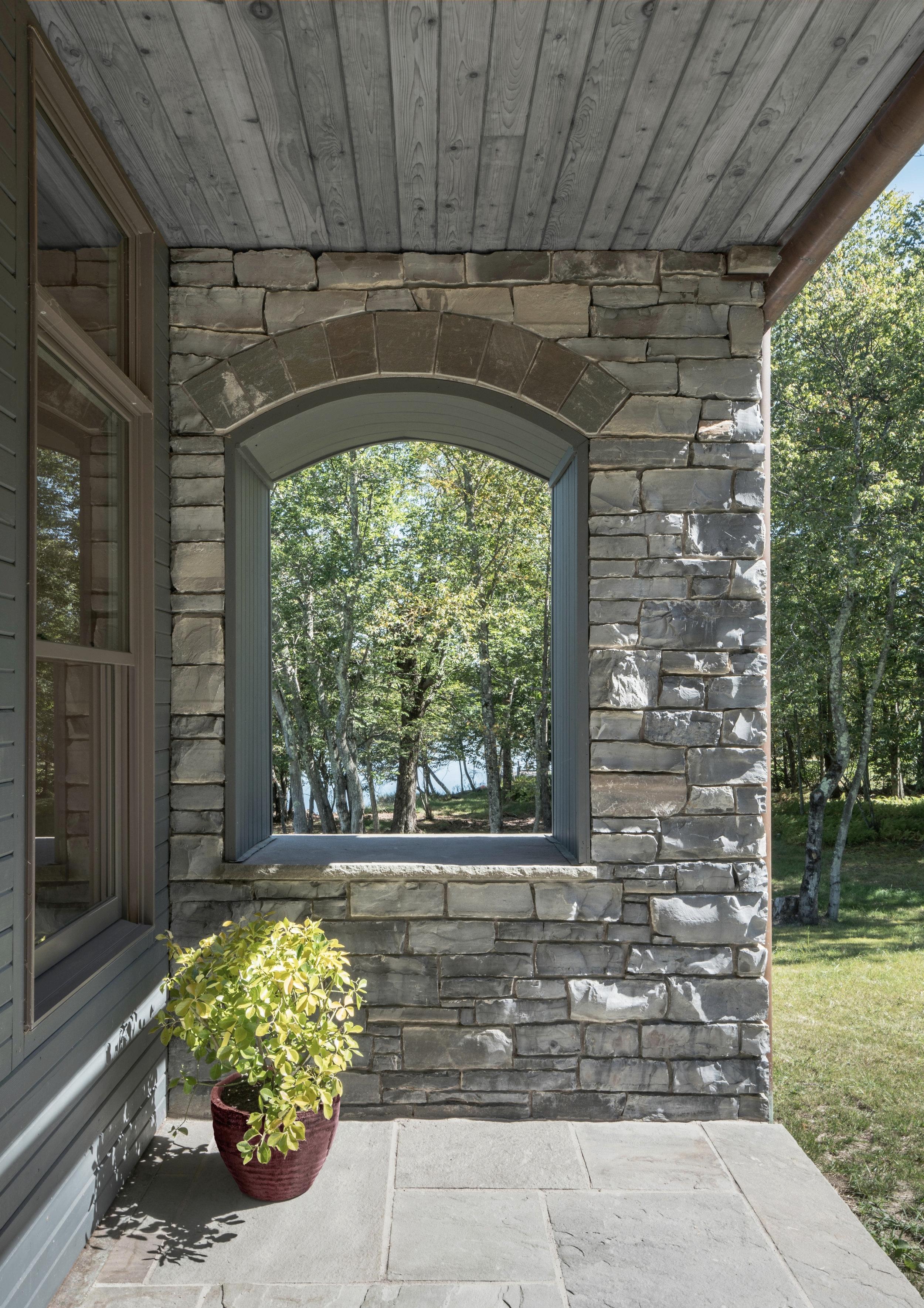 White Lake House Front Porch