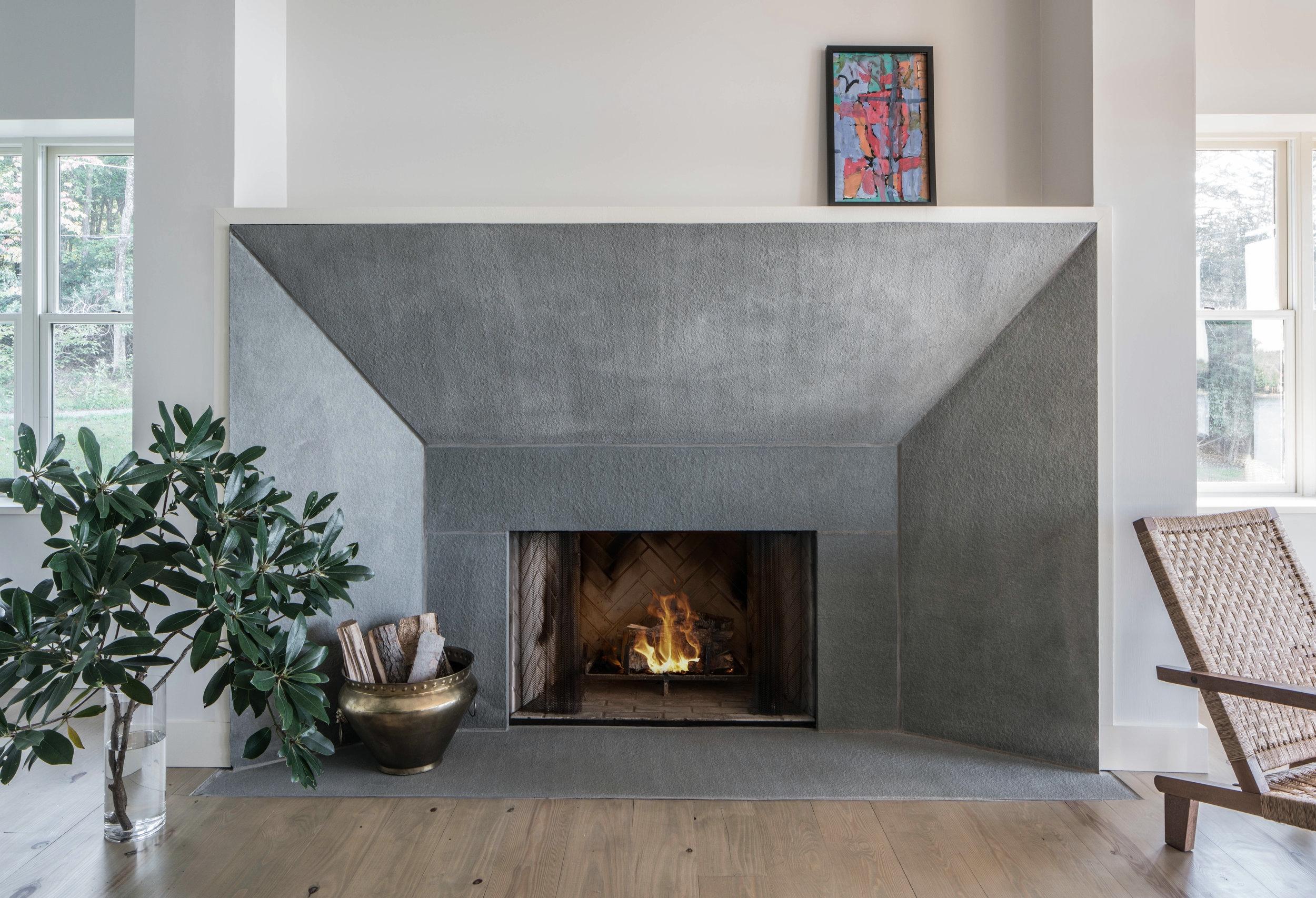 White Lake House Fireplace