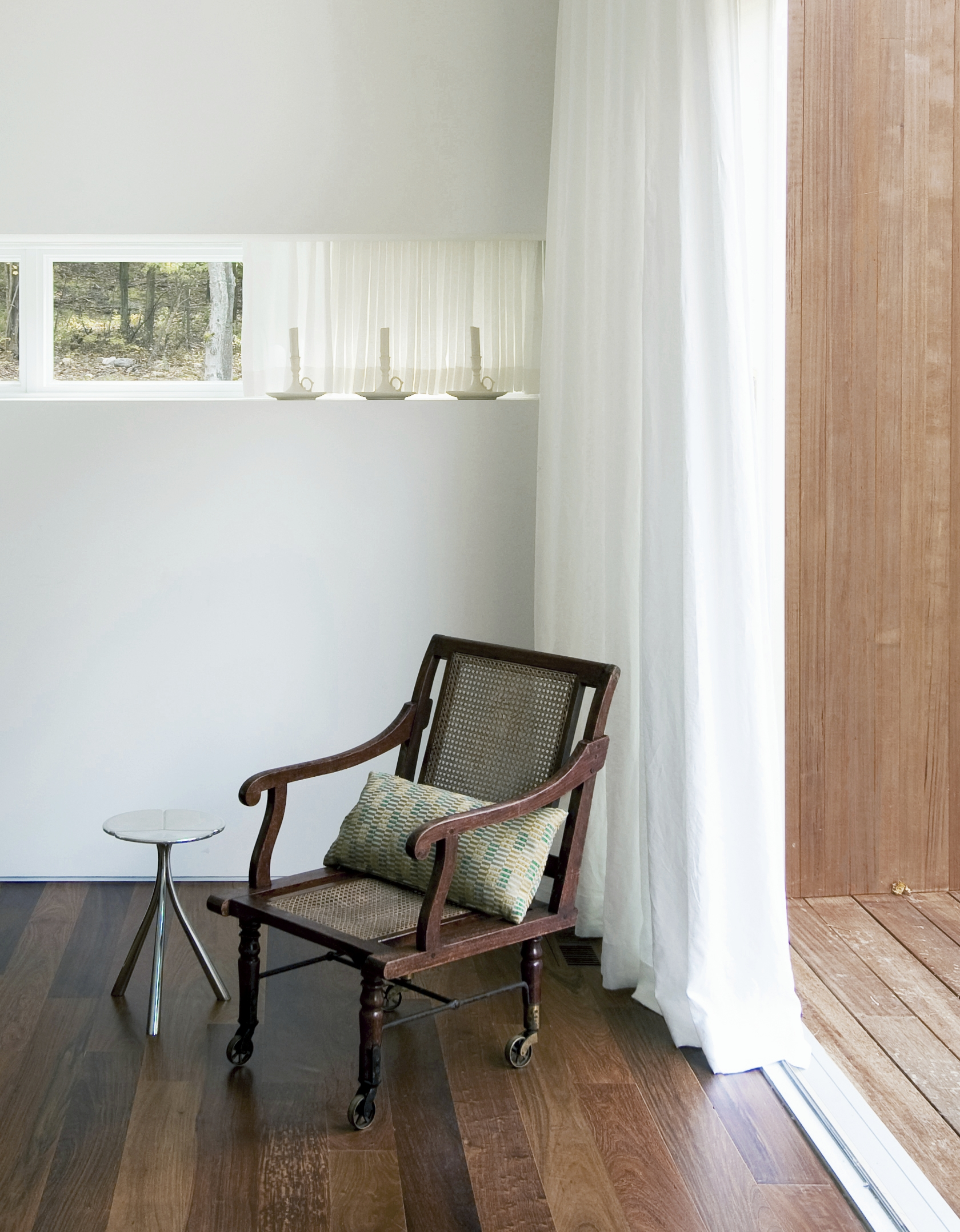 Texas Hill House Master Bedroom Chair and Side Window Detail