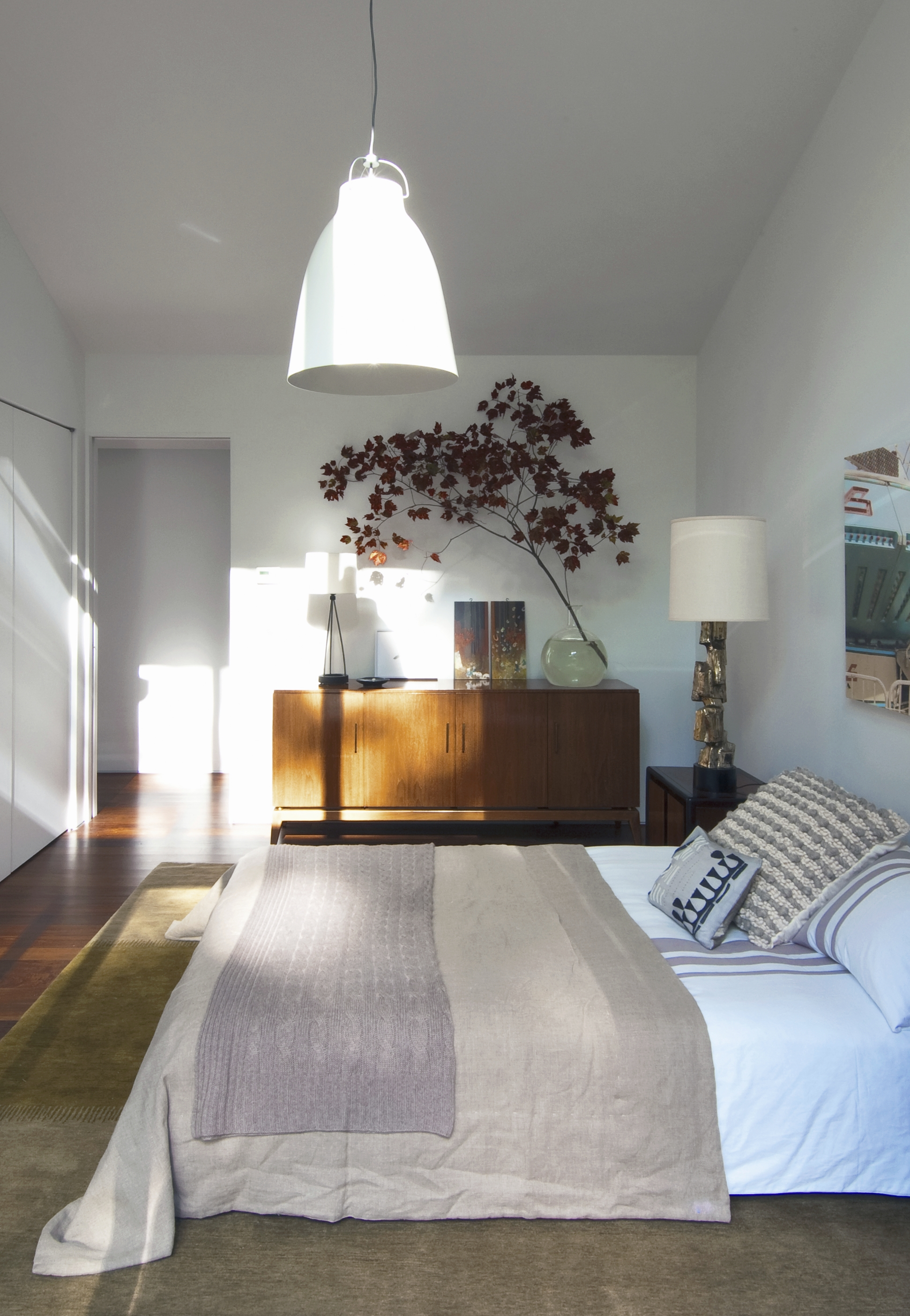 Texas Hill House Guest Bedroom with Credenza