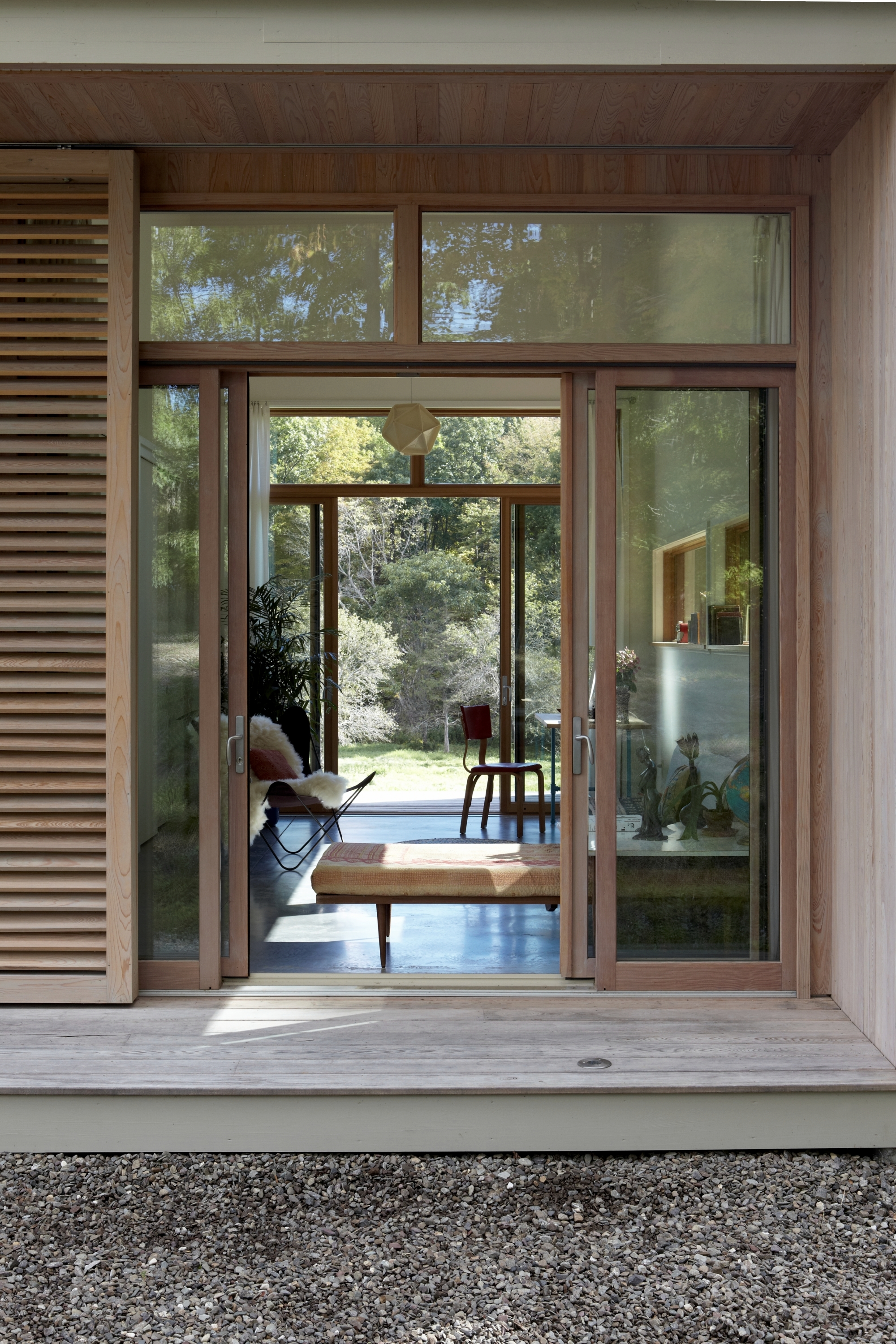 Confluence House Exterior Looking into House