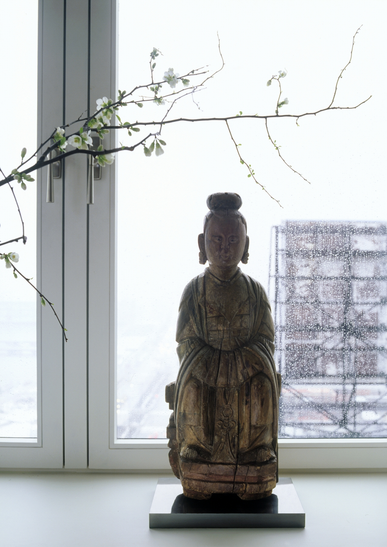 Laight Apartment Window and Statue