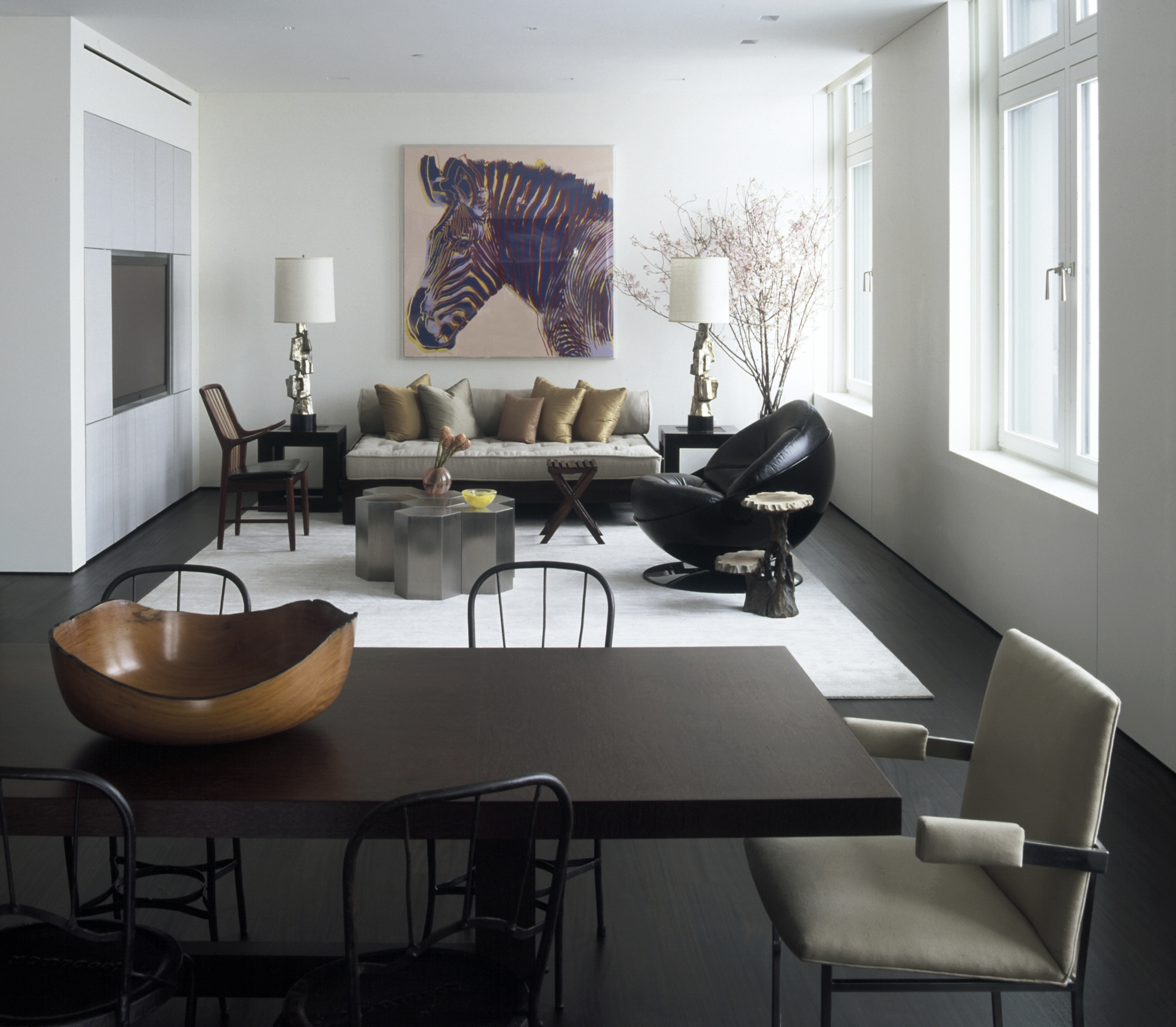 Laight Apartment Dining Table and Loft Sitting Area