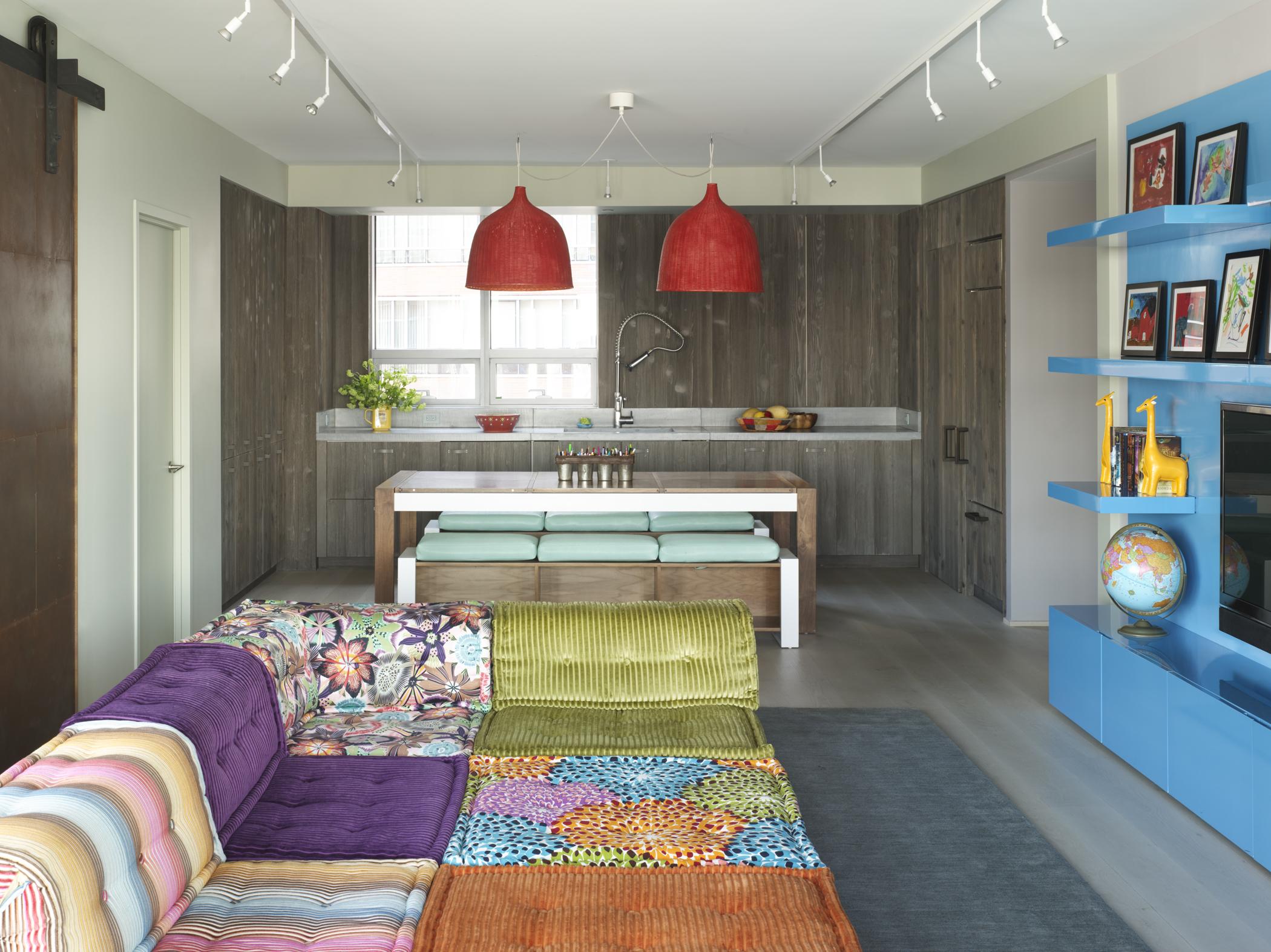 Bohemian Apartment Family Room