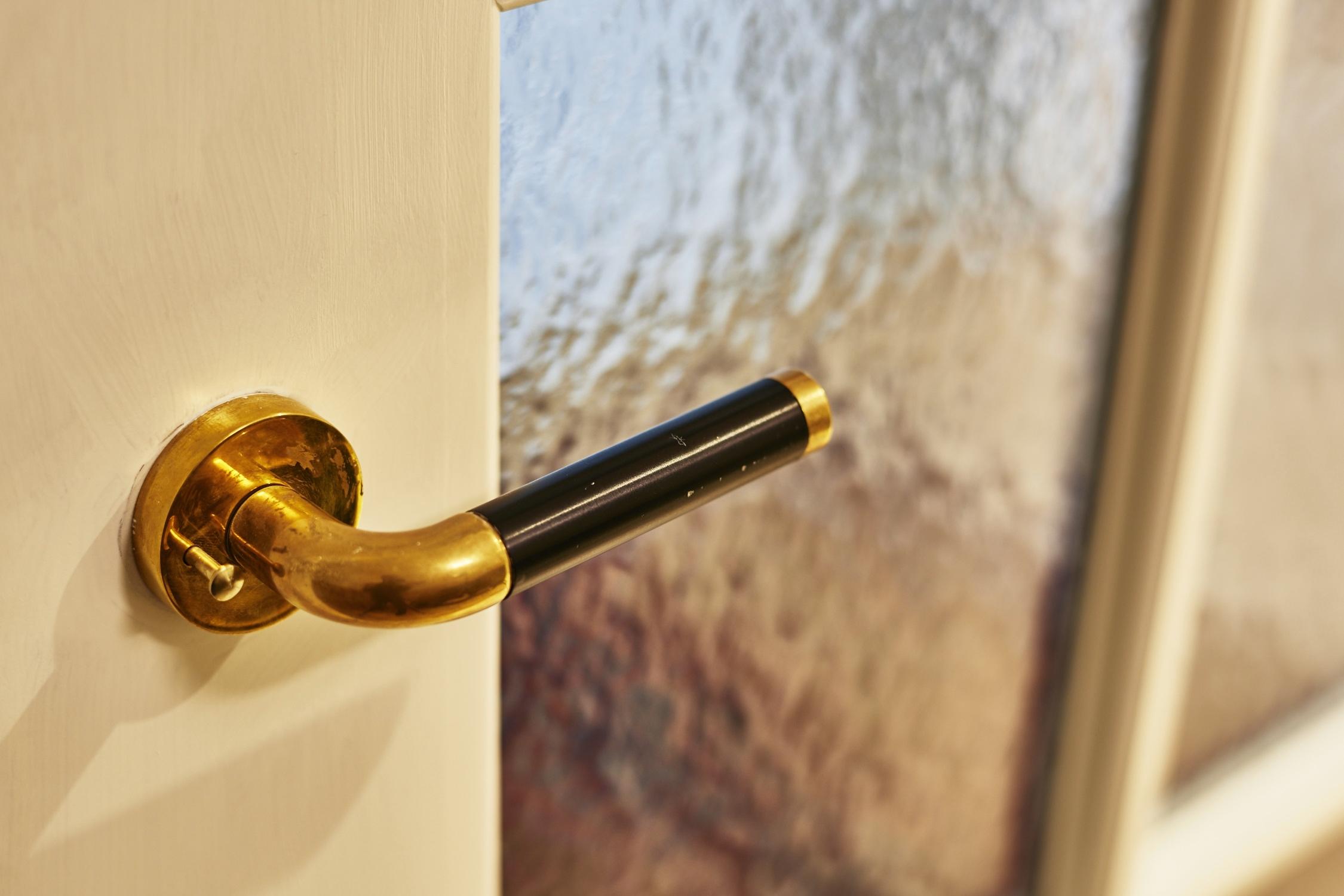 The Line Hotel DC Guest Bathroom Door Handle Detail