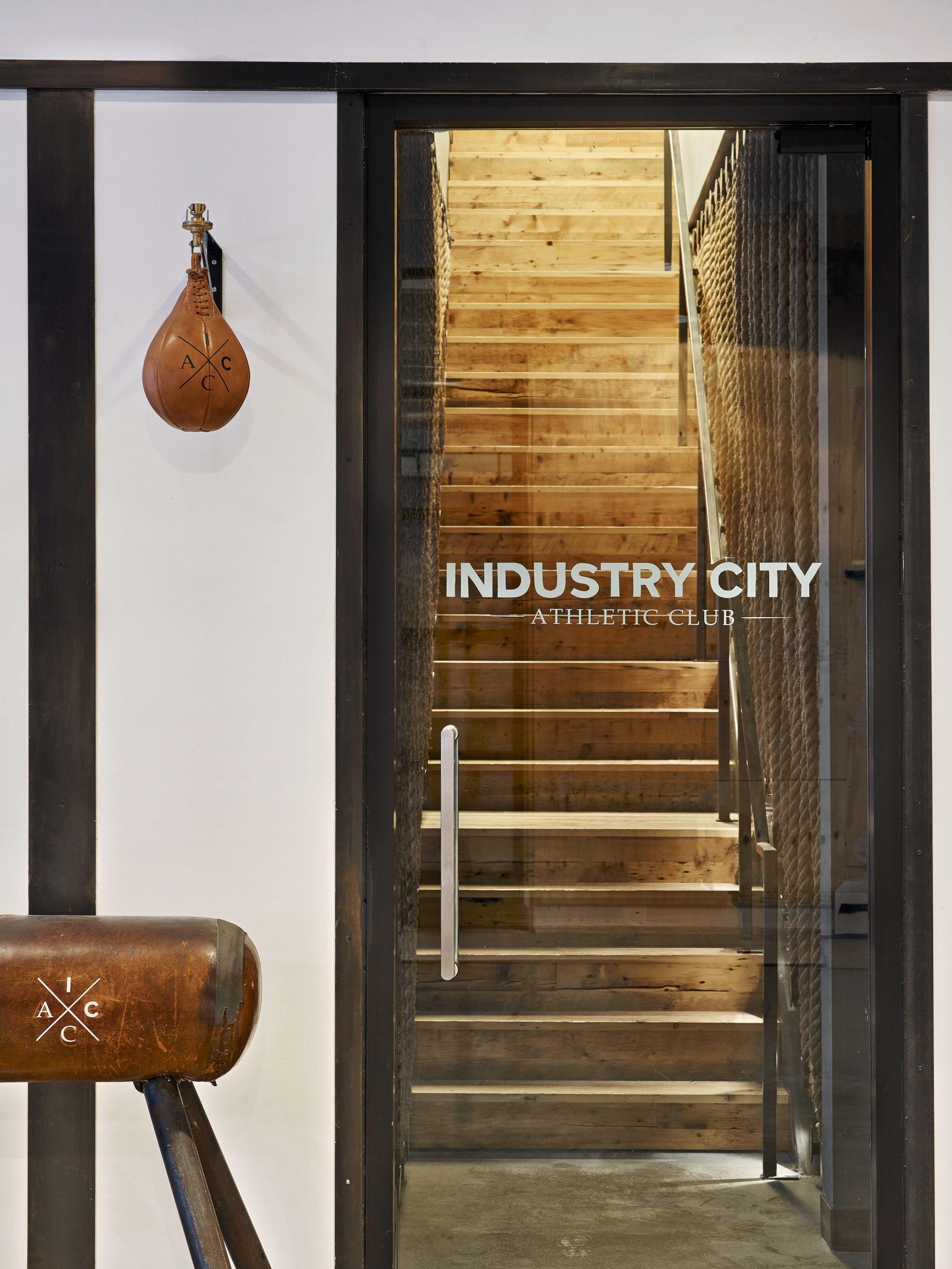 Industry City Athletic Club Entry Door
